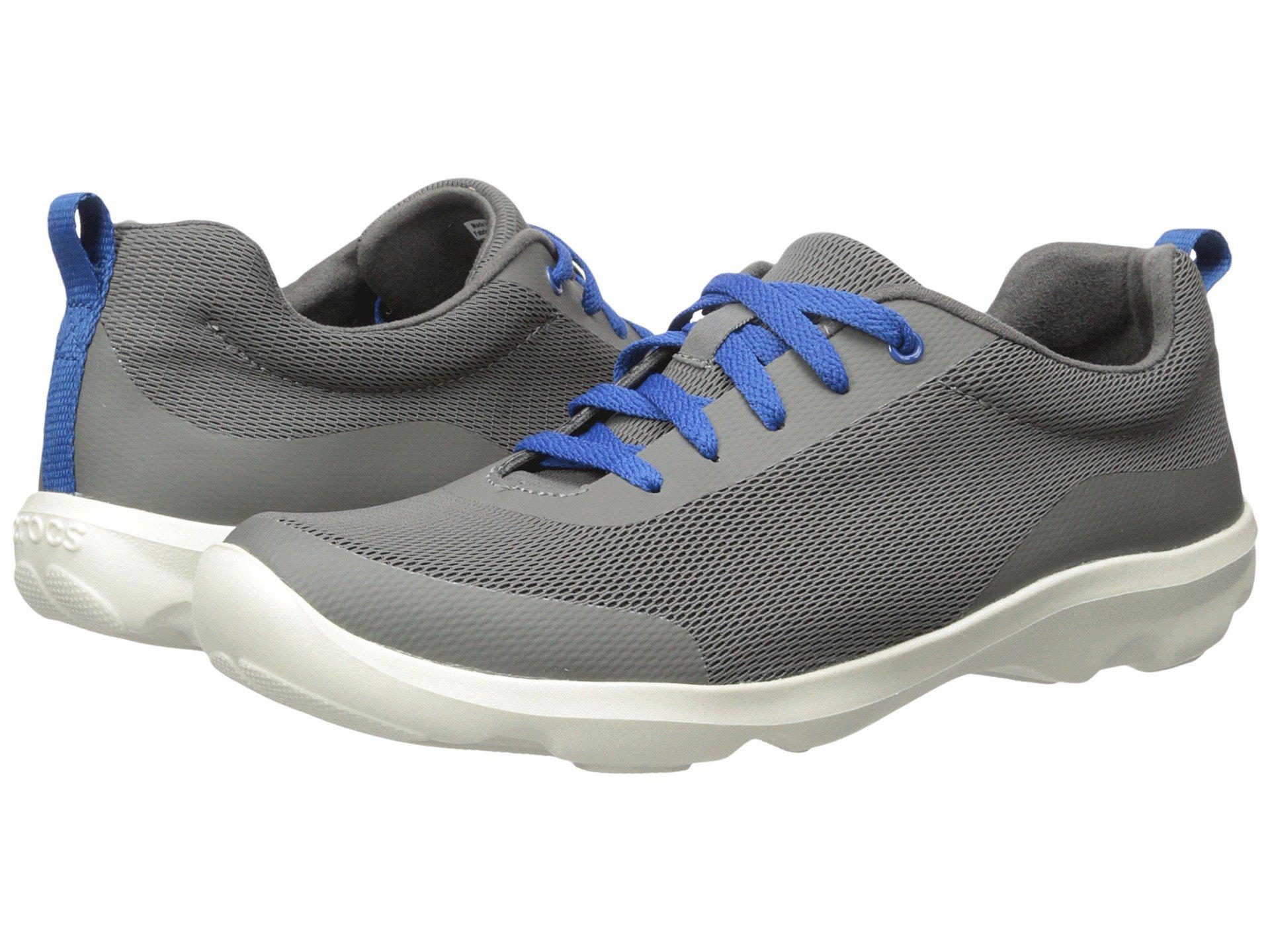 2f1c3d25c18c89 Lyst - Crocs™ Busy Day Stretch Mesh Lace in Gray