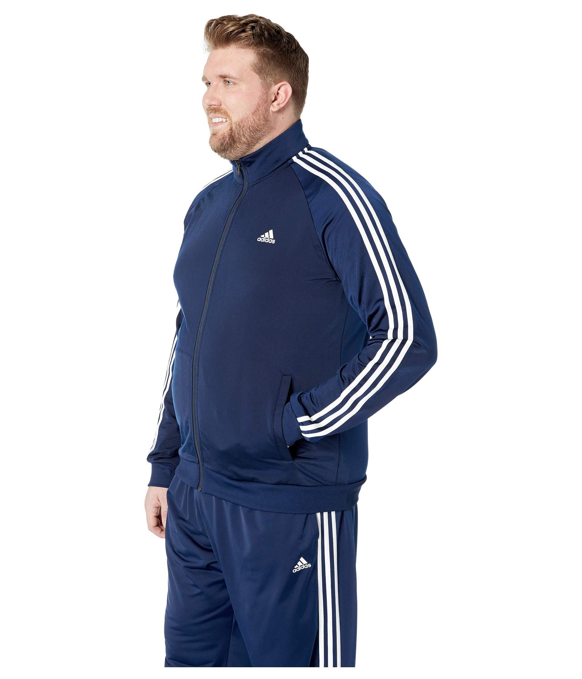 7dabed92114f Lyst - adidas Big   Tall Essentials 3-stripes Tricot Track Jacket in Blue  for Men