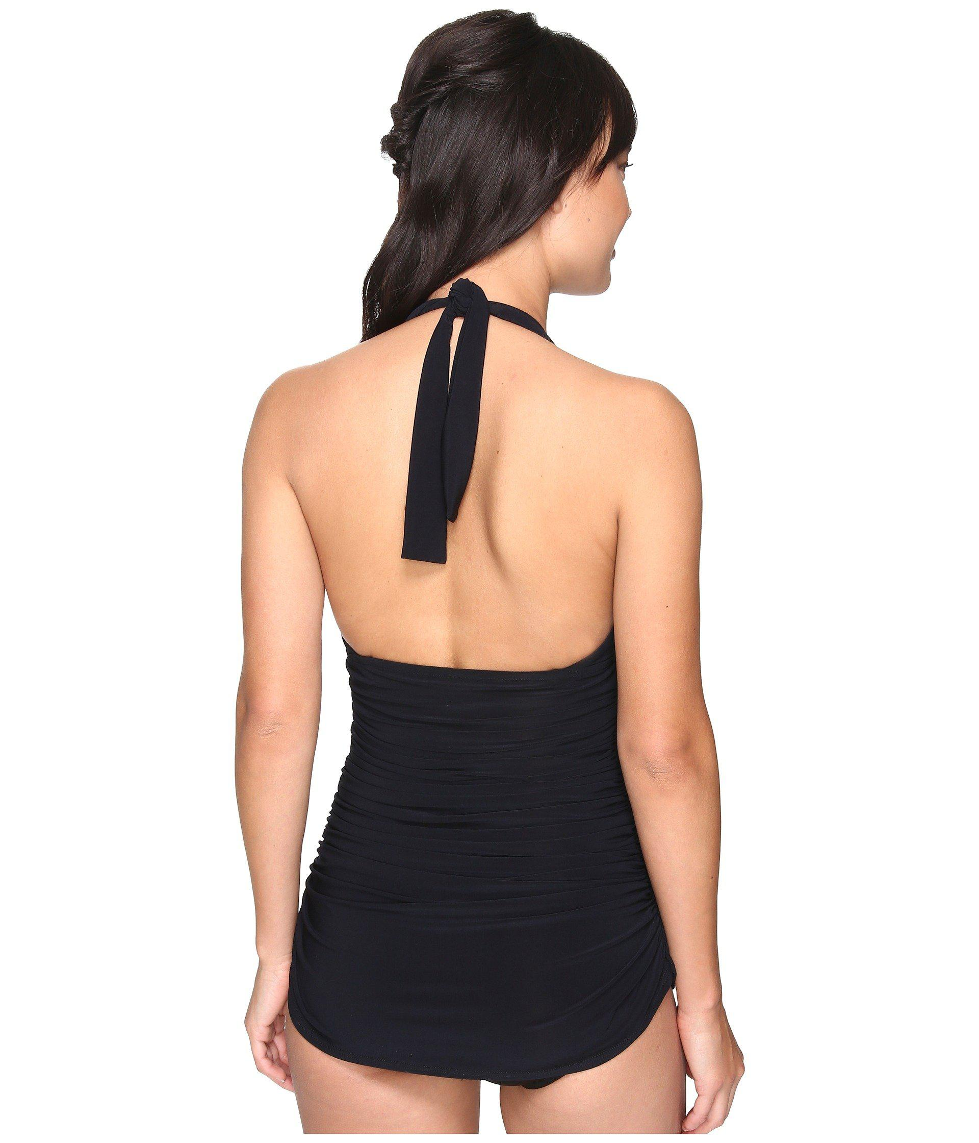 a1ba3107ee07 Lyst - Magicsuit Solid Yvonne Tummy Control One-piece Swimsuit in Black