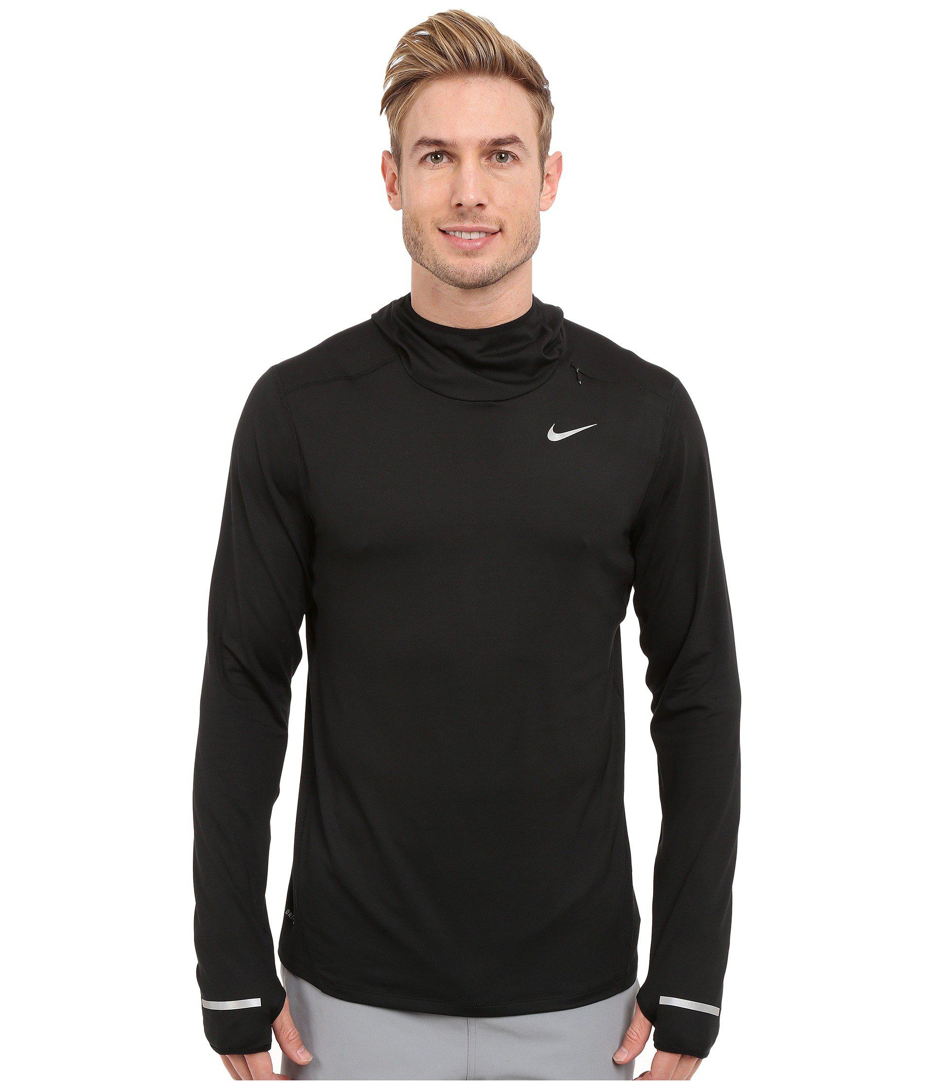 39961a1ac7bbf Lyst - Nike Dry Element Running Hoodie in Black for Men