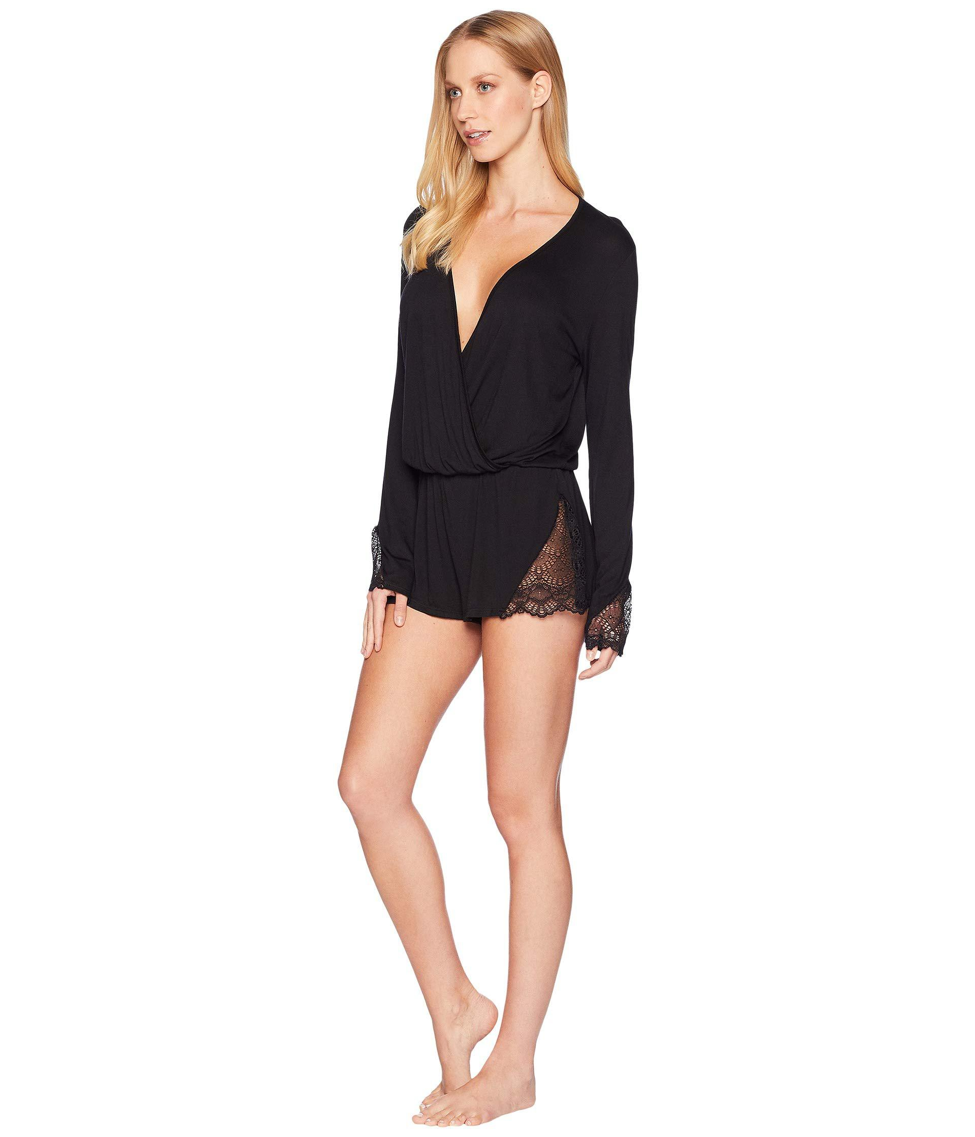 643d3cf0c4a Lyst - Only Hearts Venice Bell Sleeve Romper in Black - Save 40%