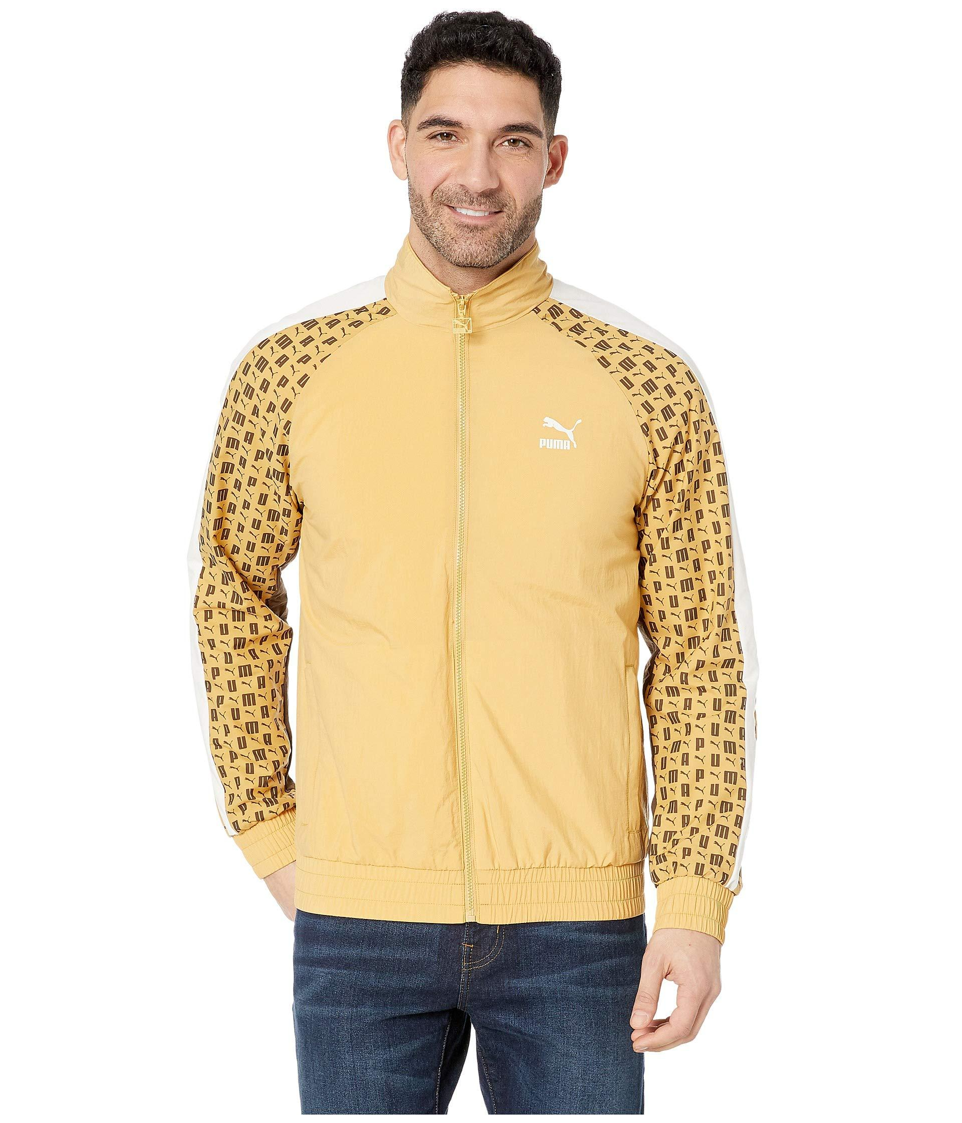 99d660e09c84 Lyst - PUMA Lux Woven T7 Track Jacket in Yellow for Men