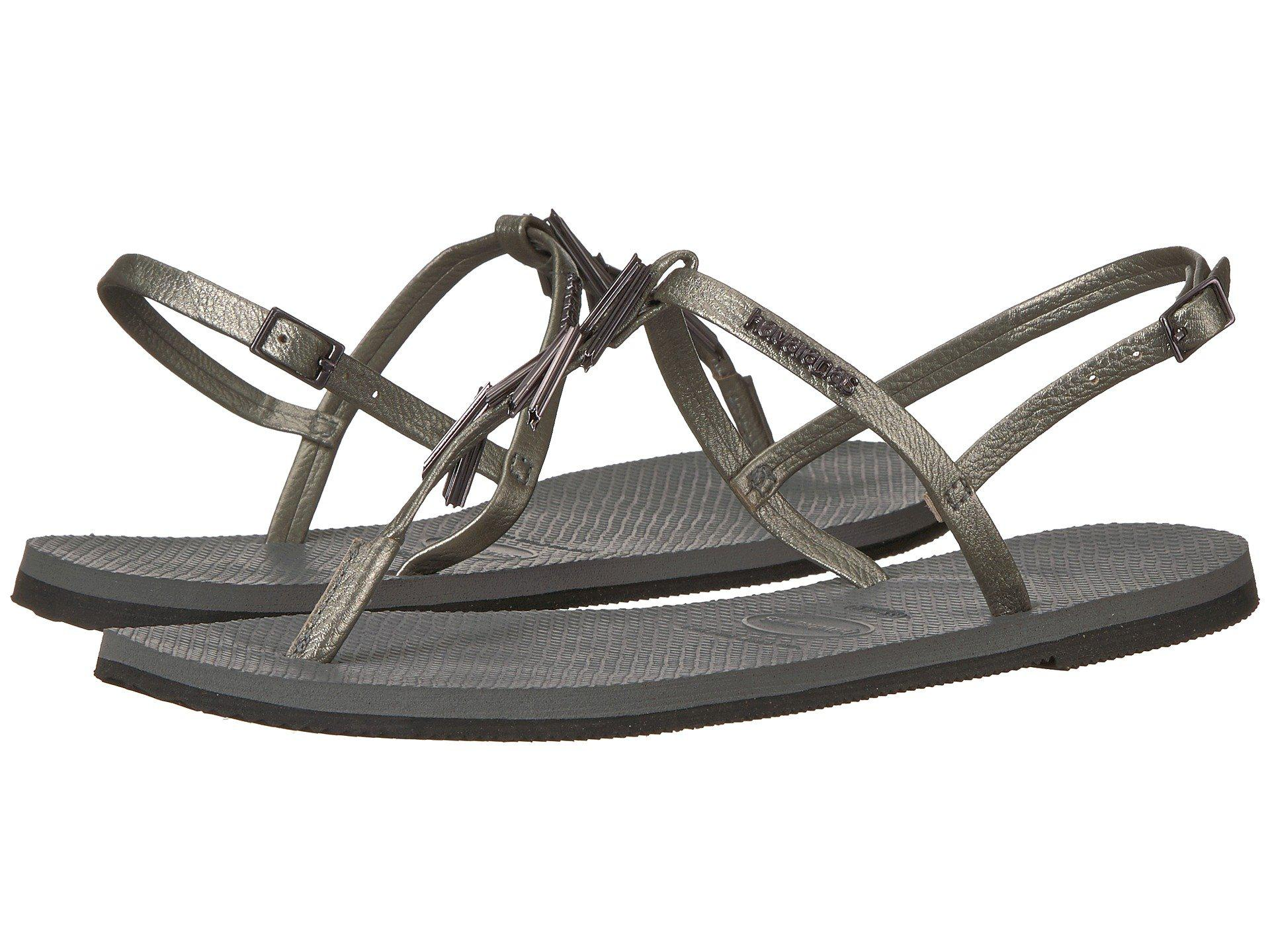c308ef4b2f10c4 Lyst - Havaianas You Riviera Maxi Sandals in Gray - Save 26%