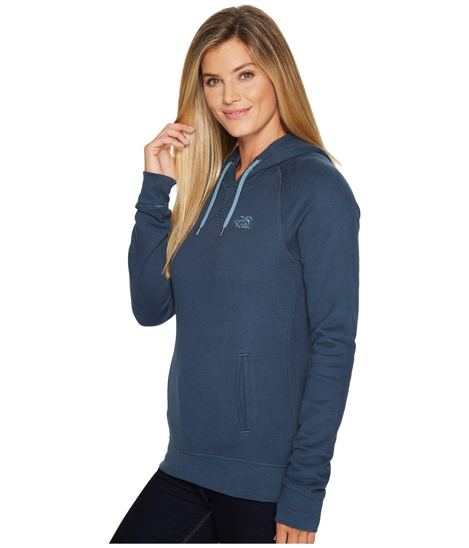 4f8e868472d59 Lyst - The North Face French Terry Logo Pullover Hoodie in Blue - Save  31.818181818181813%