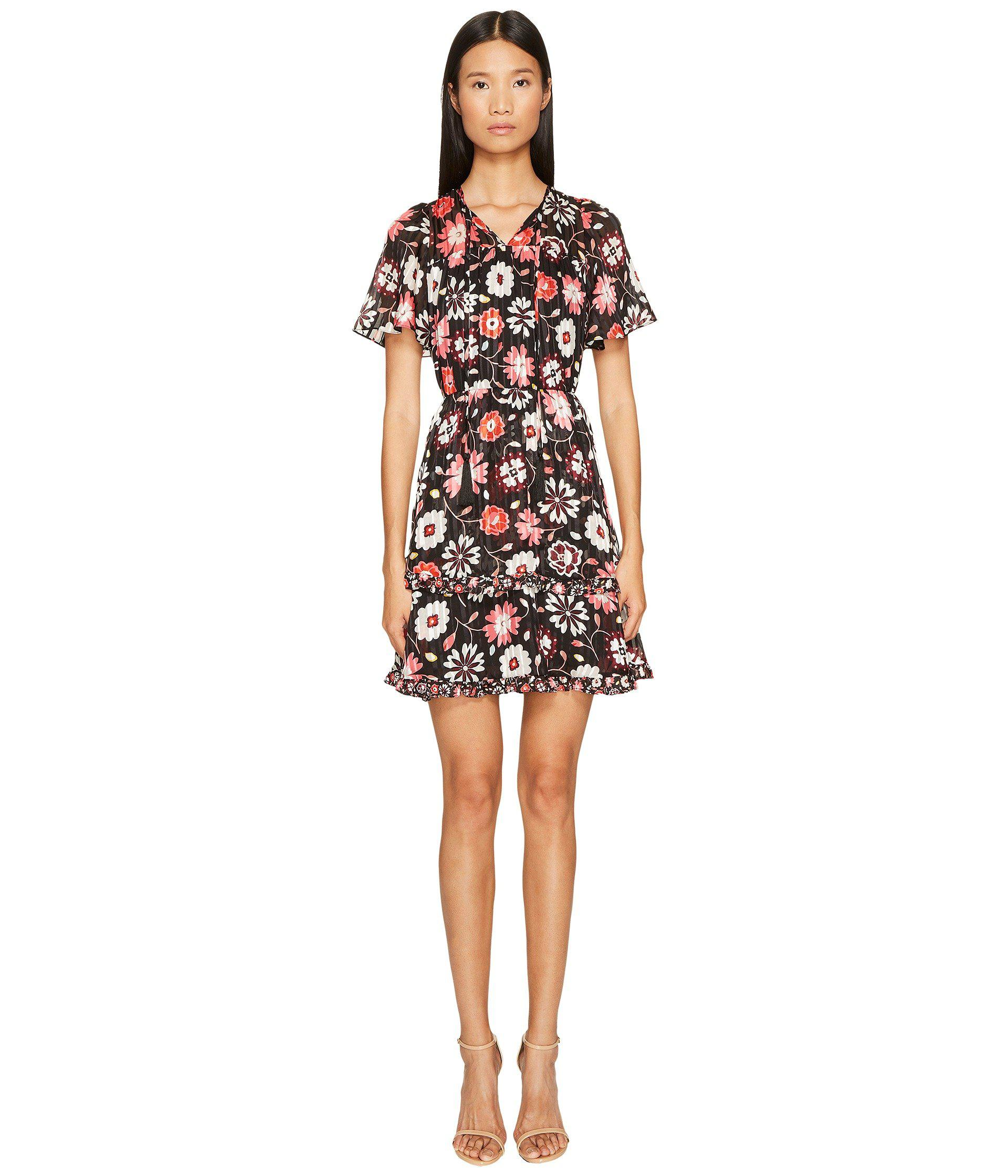 18922803a1 Lyst - Kate Spade Casa Flora Flutter Sleeve Dress in Black