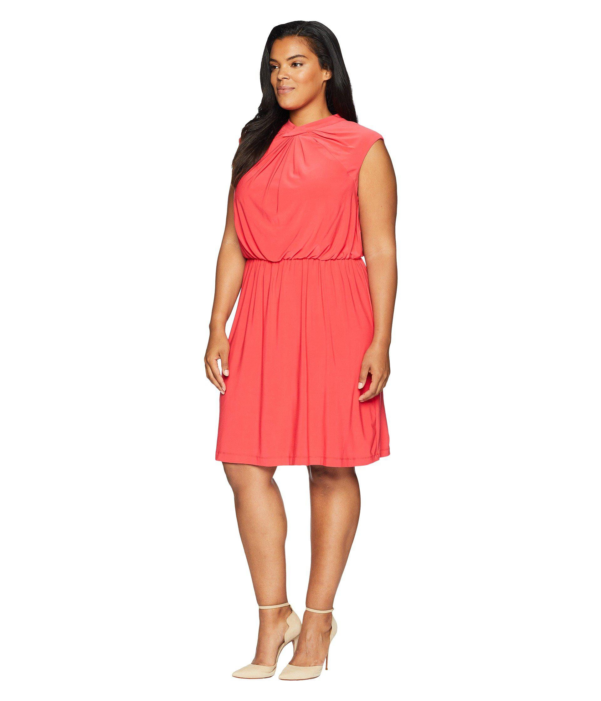 6704171dc43 Lyst - Adrianna Papell Plus Size Matte Jersey Fit And Flare in Red - Save  42.68292682926829%