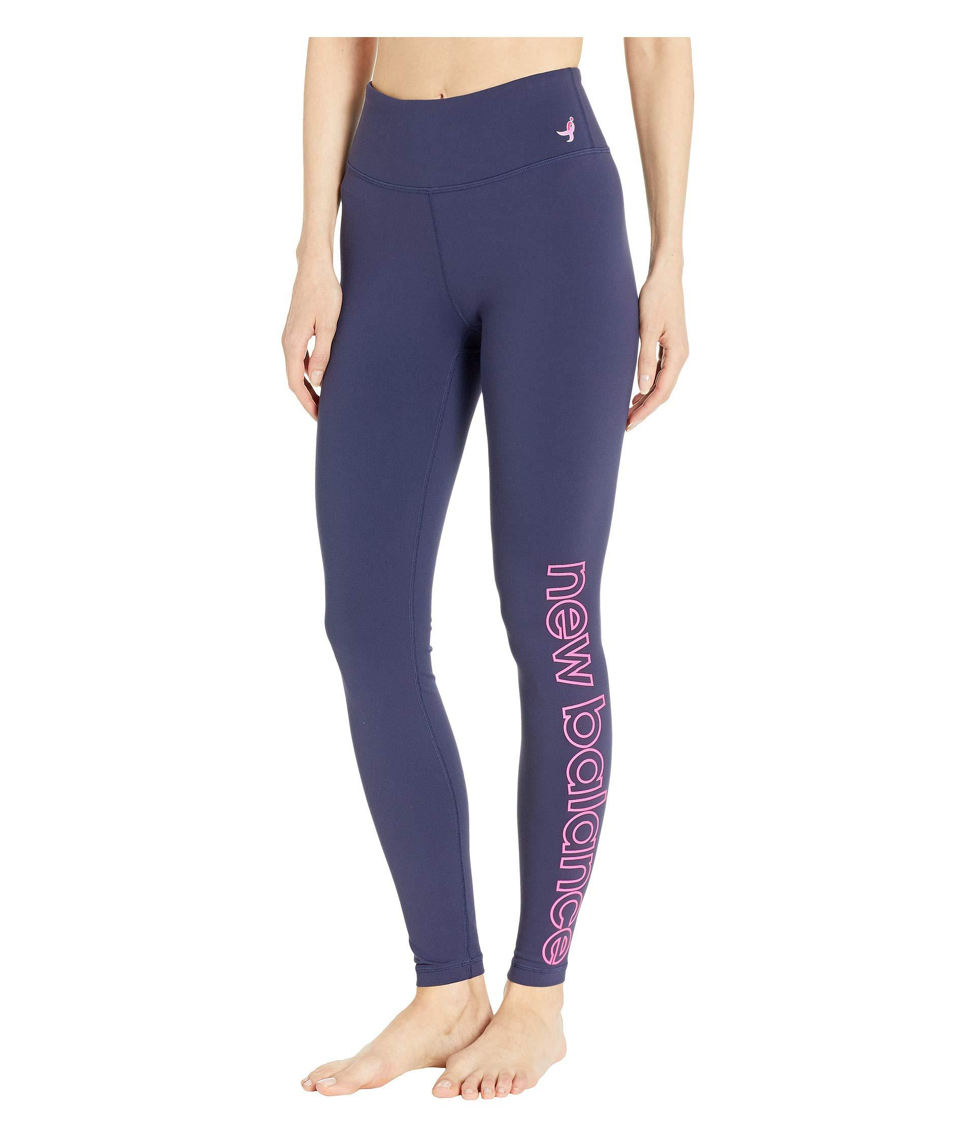 96ca8cefd386c4 Lyst - New Balance Printed High-rise Transform Tights in Blue