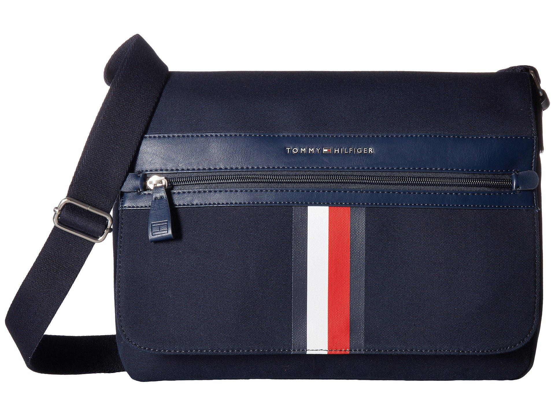 4025ab6cc237 Lyst - Tommy Hilfiger Icon Messenger Canvas in Blue for Men