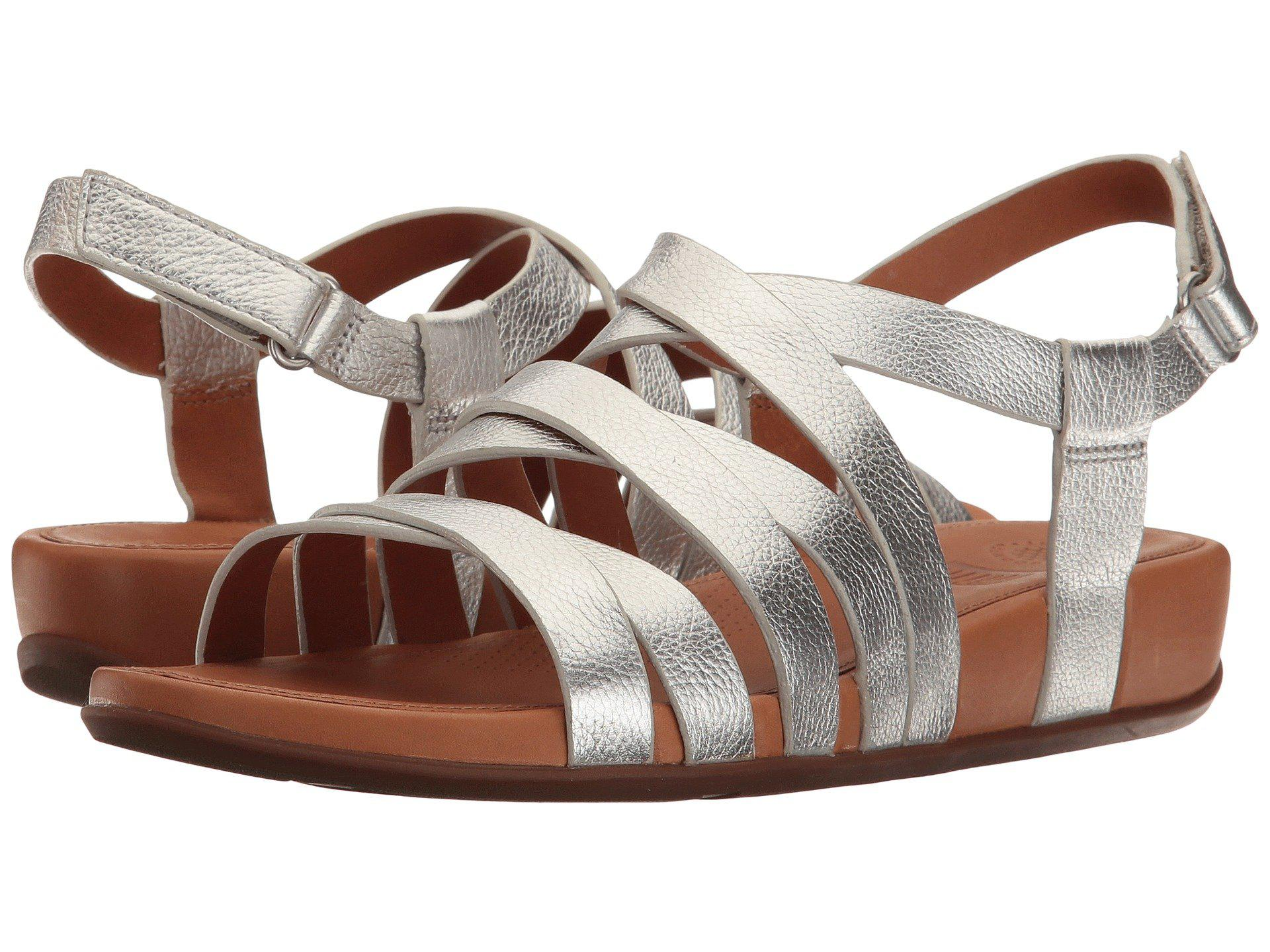 fc38fc2b24c Lyst - Fitflop Lumy Leather Sandal in Metallic