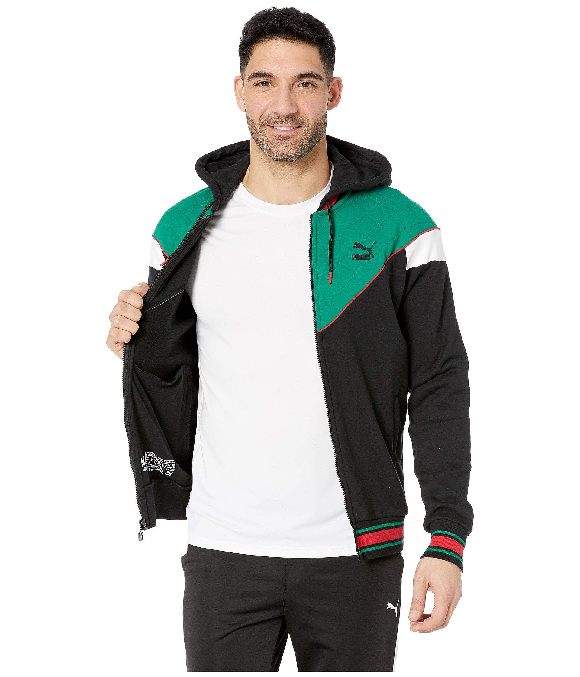 fac722f4bf70 Lyst - PUMA Lux Mcs Hooded Track Jacket in Green for Men