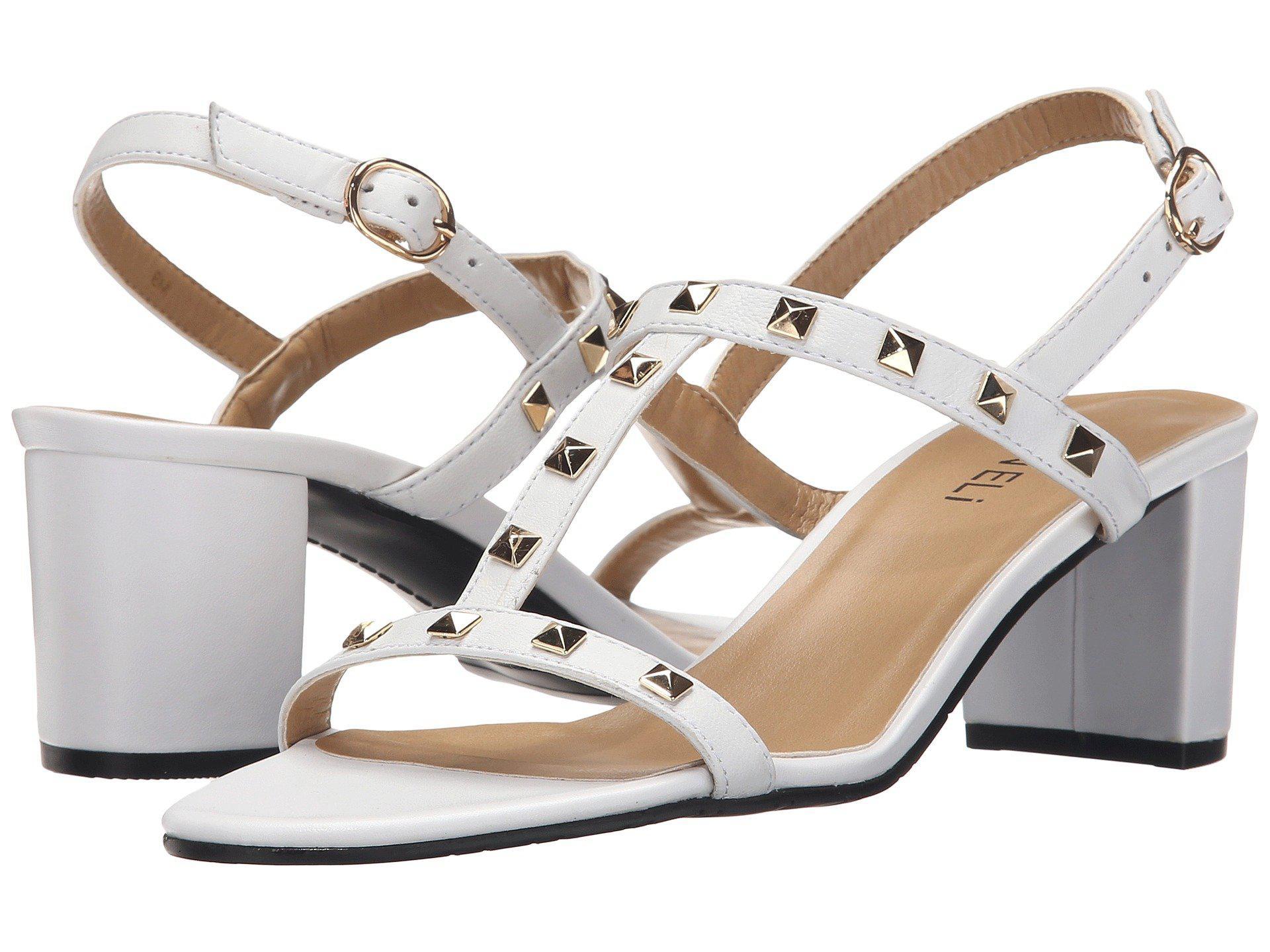 Womens Sandals Vaneli Mandy White Ecco Nappa