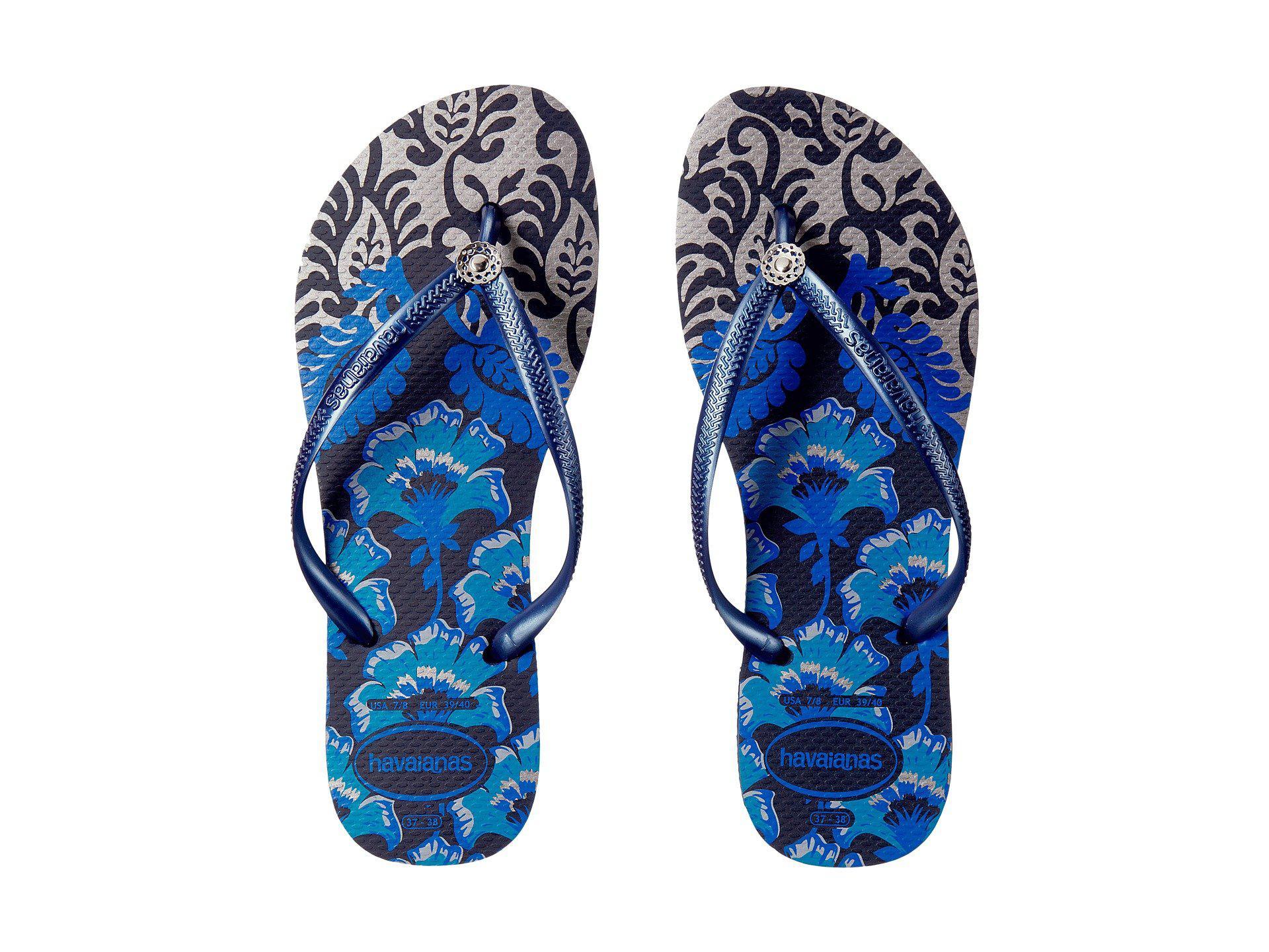73a66dd00445dd Lyst - Havaianas Slim Royal Flip Flops in Blue - Save 31%