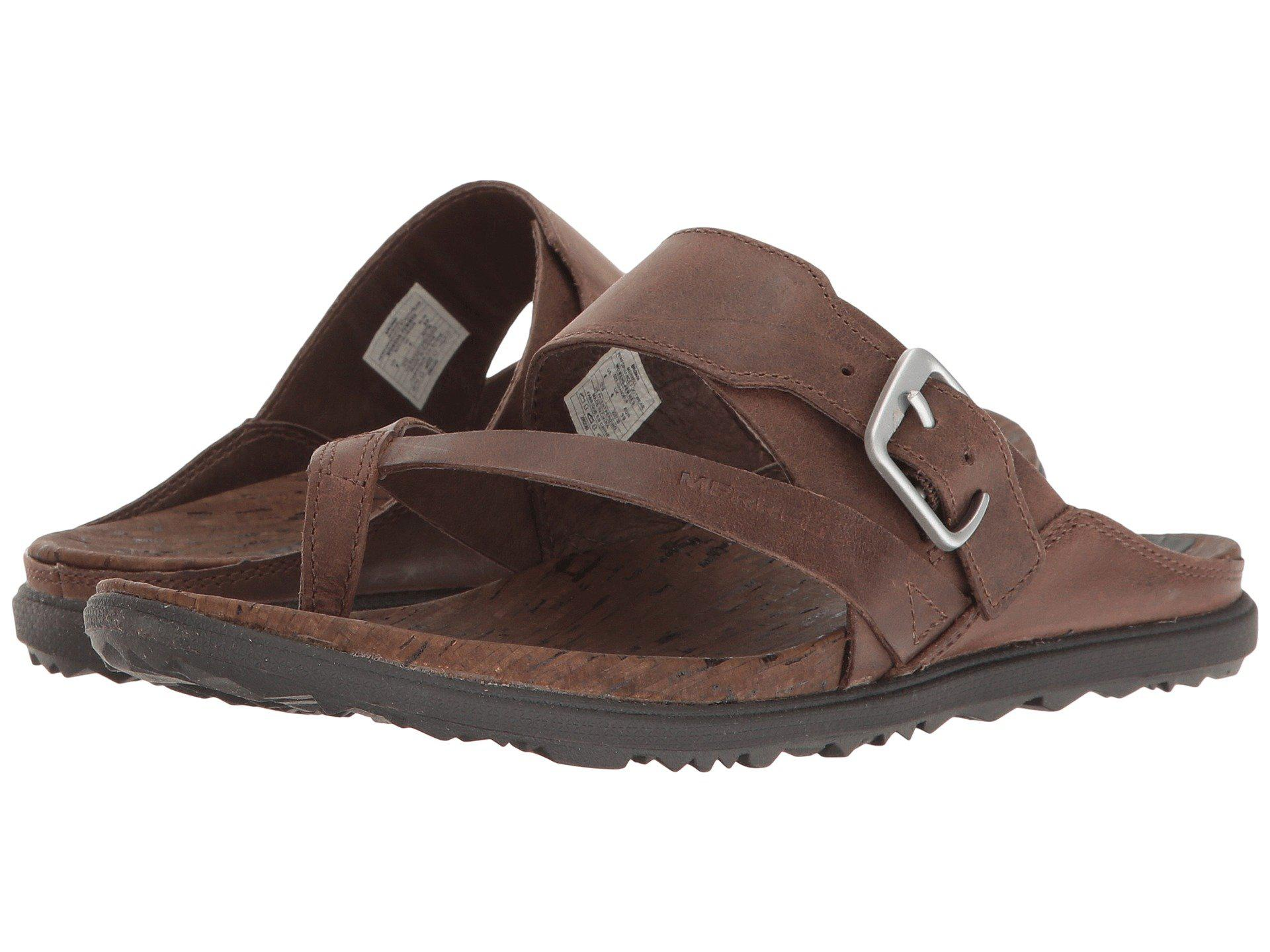 40c60728d0ac Lyst - Merrell Around Town Thong Buckle in Brown - Save 51%