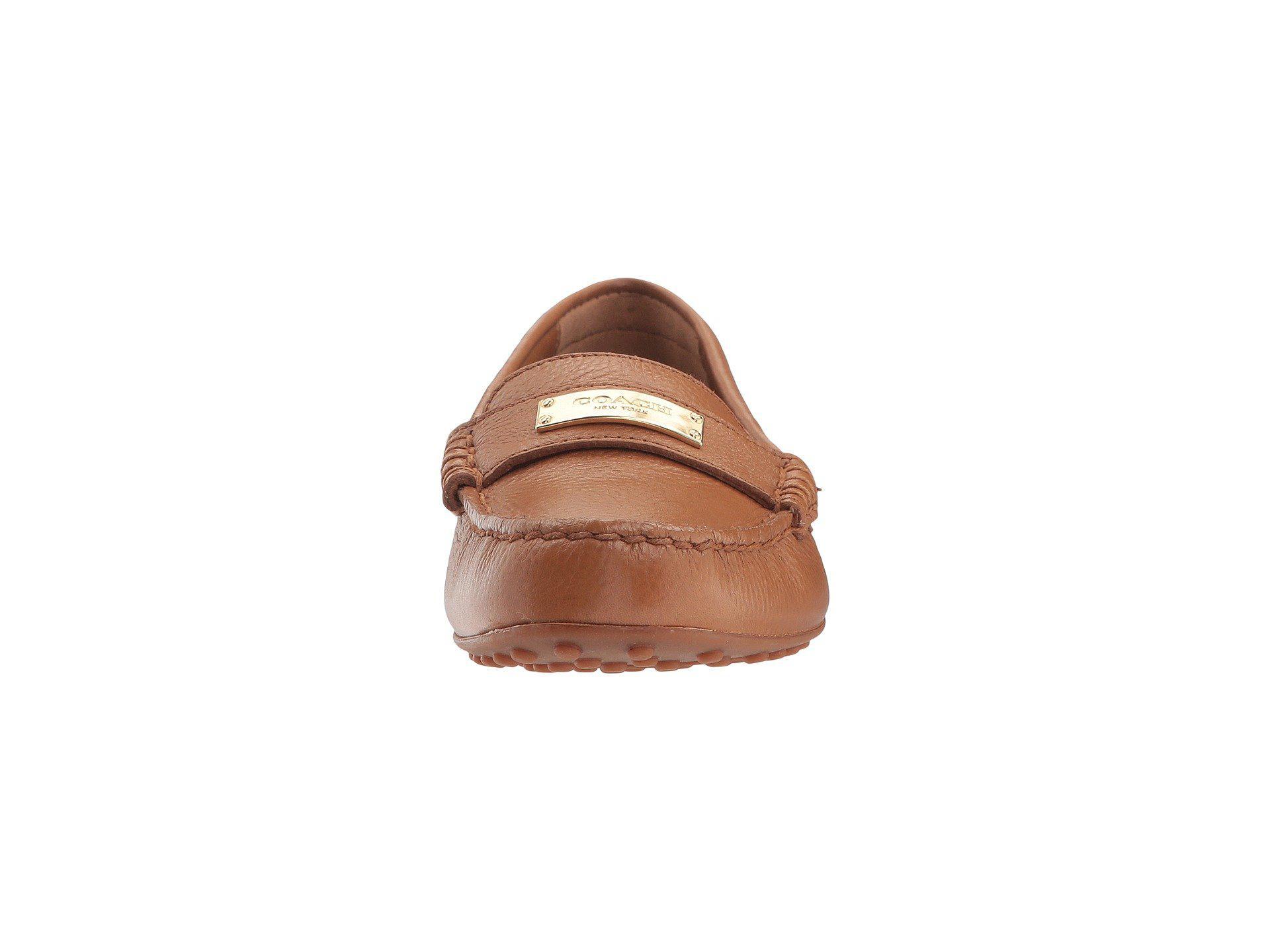 41e71b48144 Lyst - COACH Fredrica Loafer in Brown