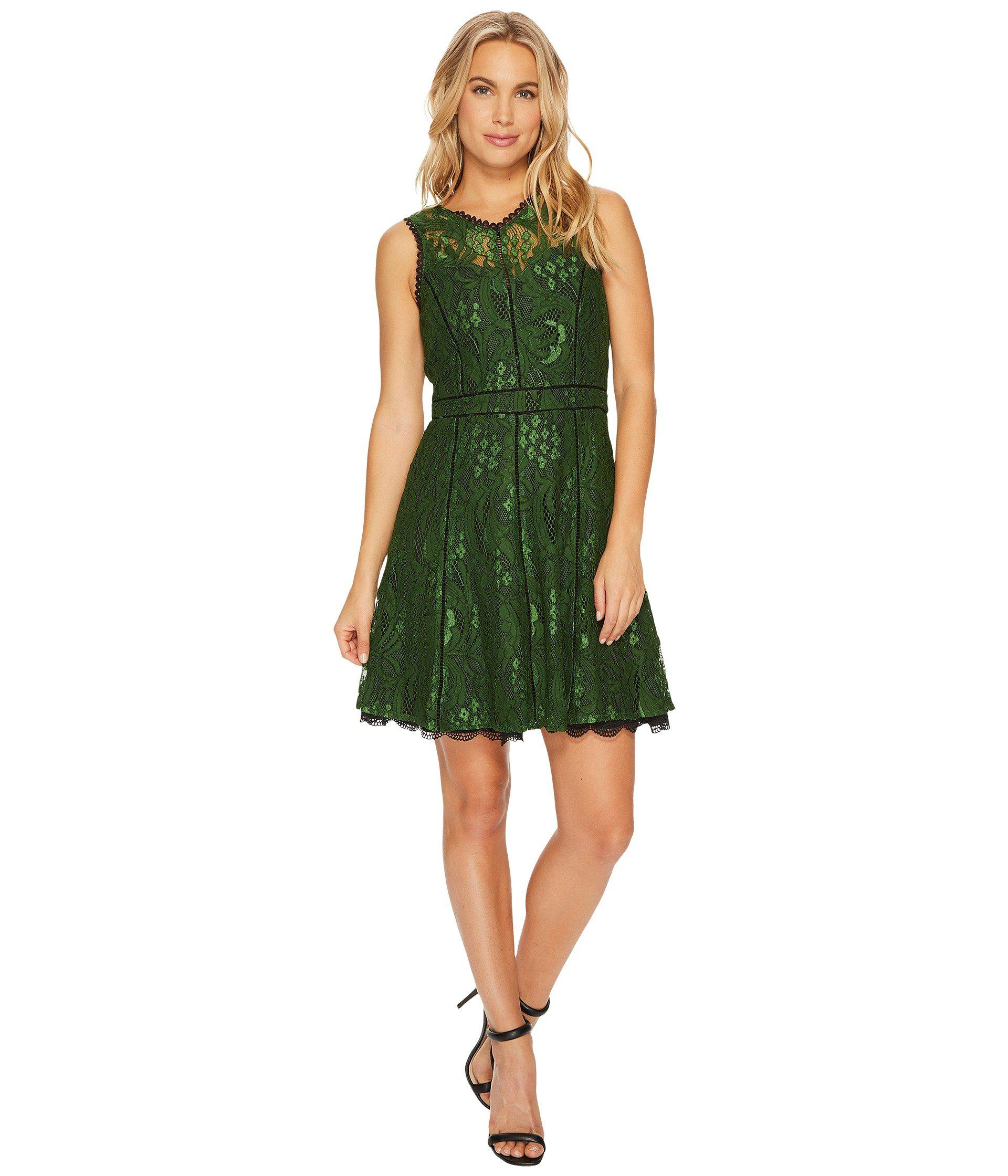 9eeb976529493 Lyst - Adelyn Rae Delilah Fit   Flare Dress in Green