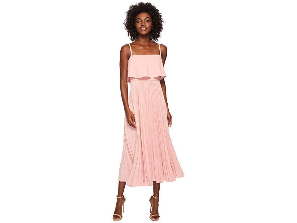 e0b8760036449 JILL Jill Stuart Pleated Popover Midi Dress (rose Water) Dress in ...