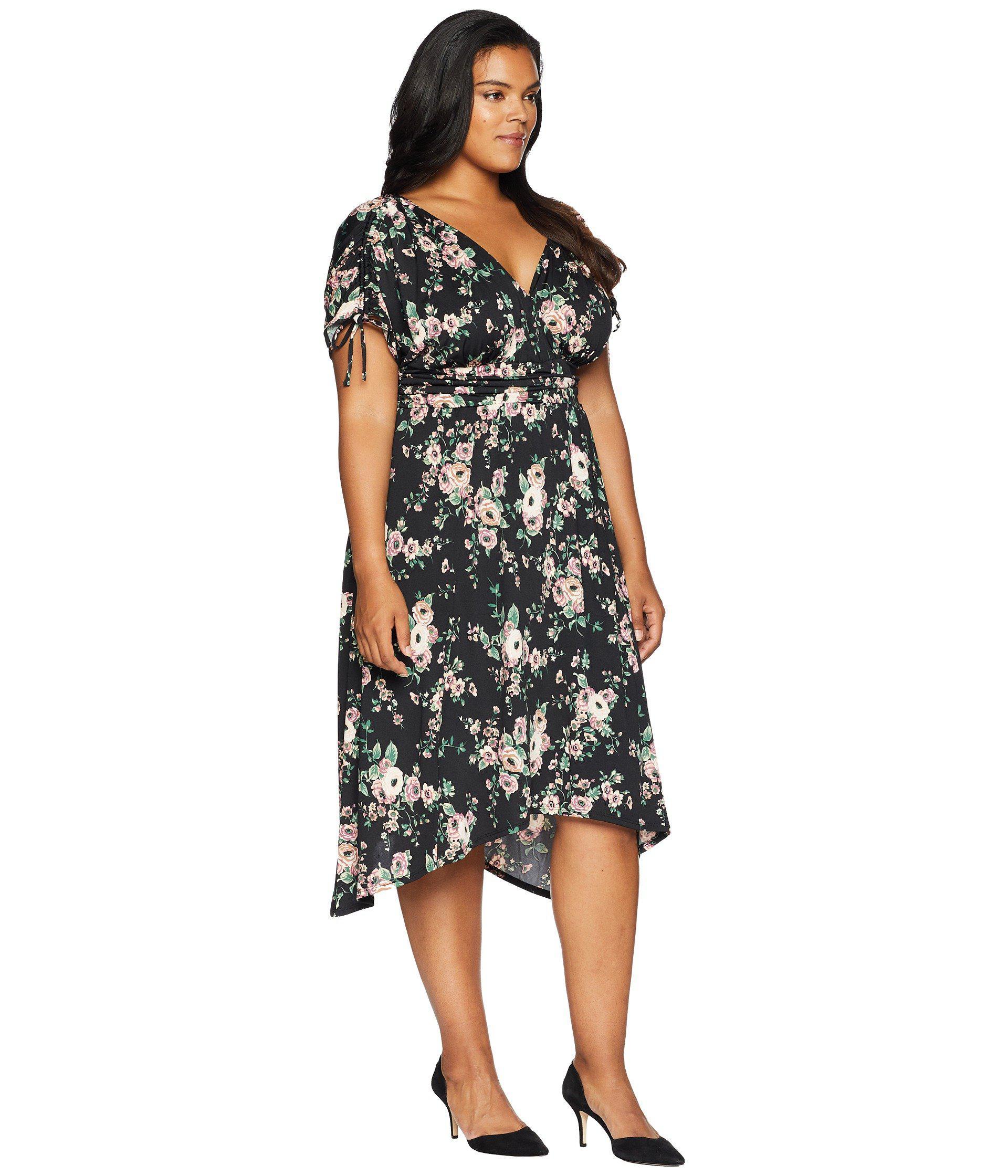 5270157a020 Kiyonna - Black Tessa Ruched Dress - Lyst. View fullscreen