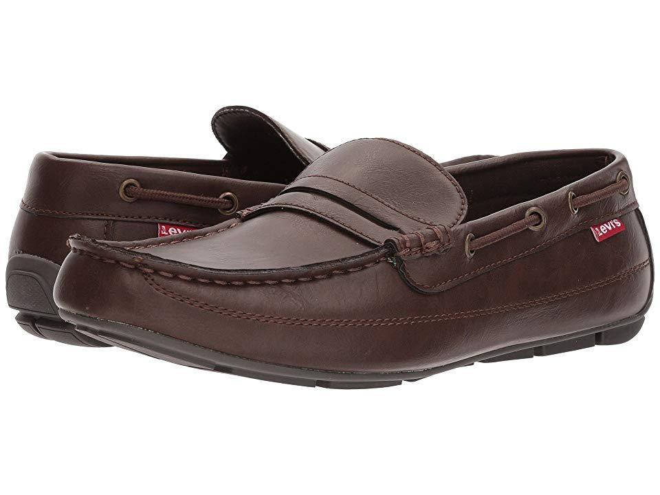 47d3ea62cc Levi's Levi's(r) Shoes Pierce Burnish (dark Brown) Slip On Shoes in ...