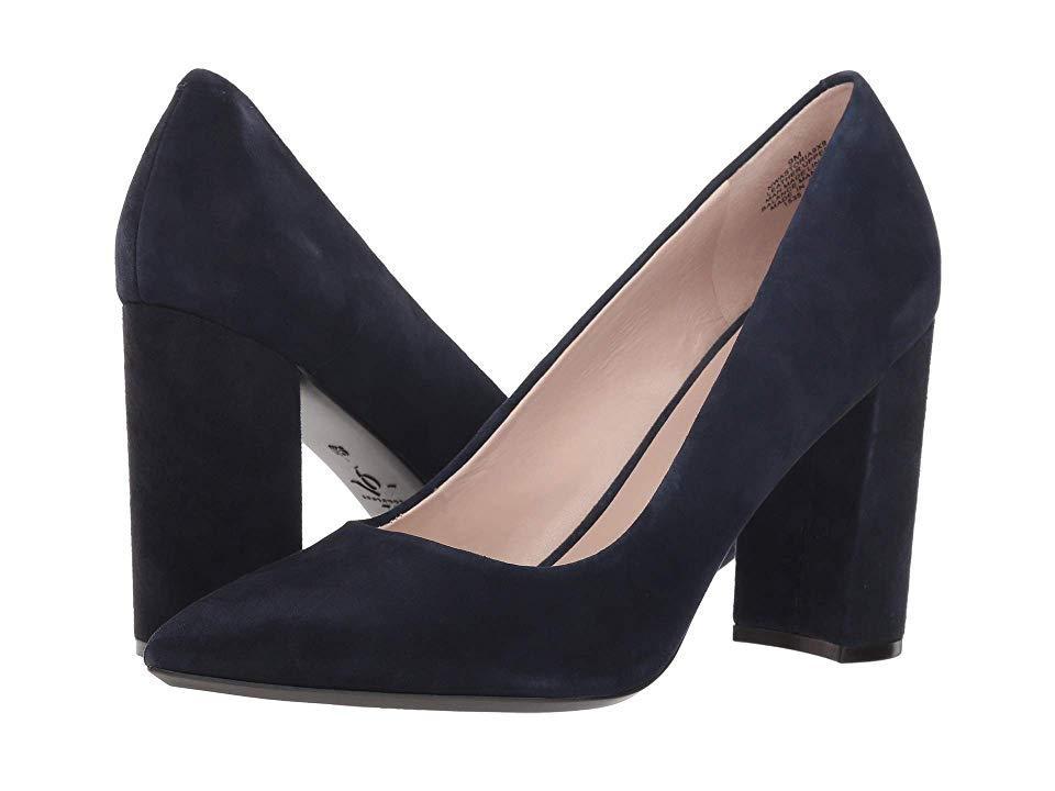 01547721f5 Nine West Astoria Block Heel Pump (navy Suede 2) High Heels in Blue ...