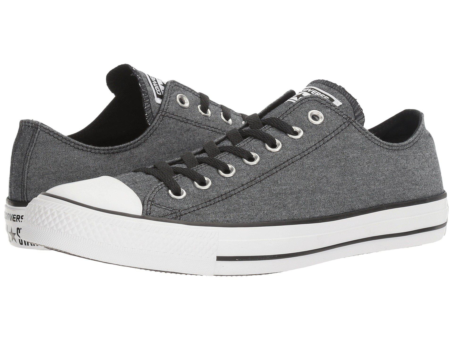 e95b5d53a50ae1 Lyst - Converse Chuck Taylor® All Star® Washed Chambray Ox in Black ...