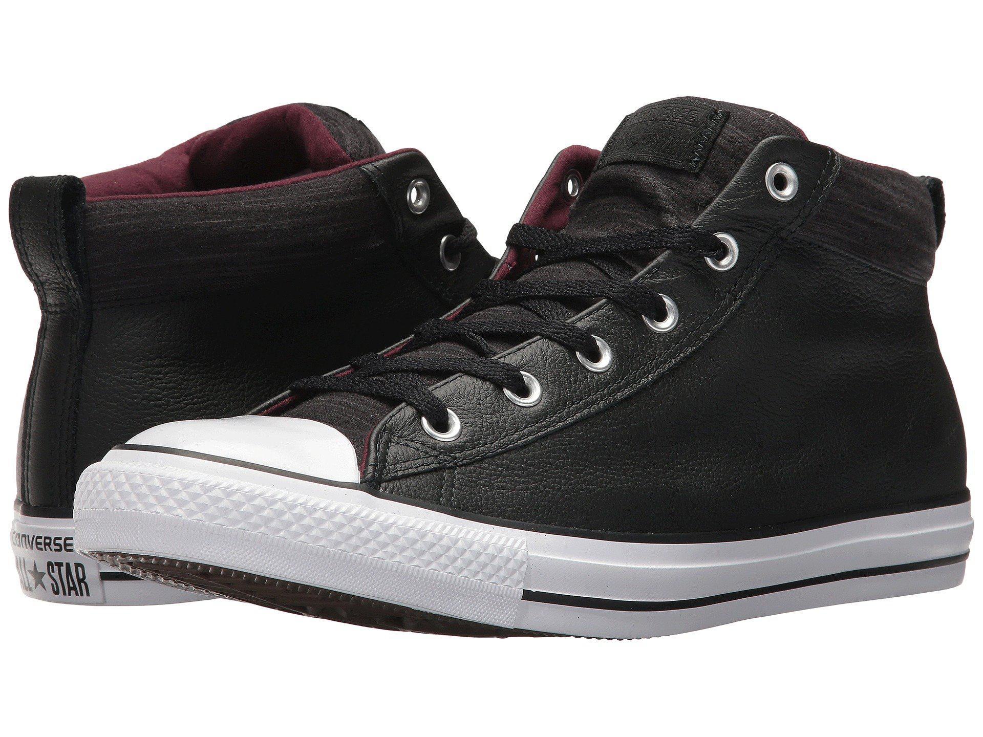 a15dfb0519c Converse - Black Chuck Taylor® All Star® High Street Leather W  Fleece Mid