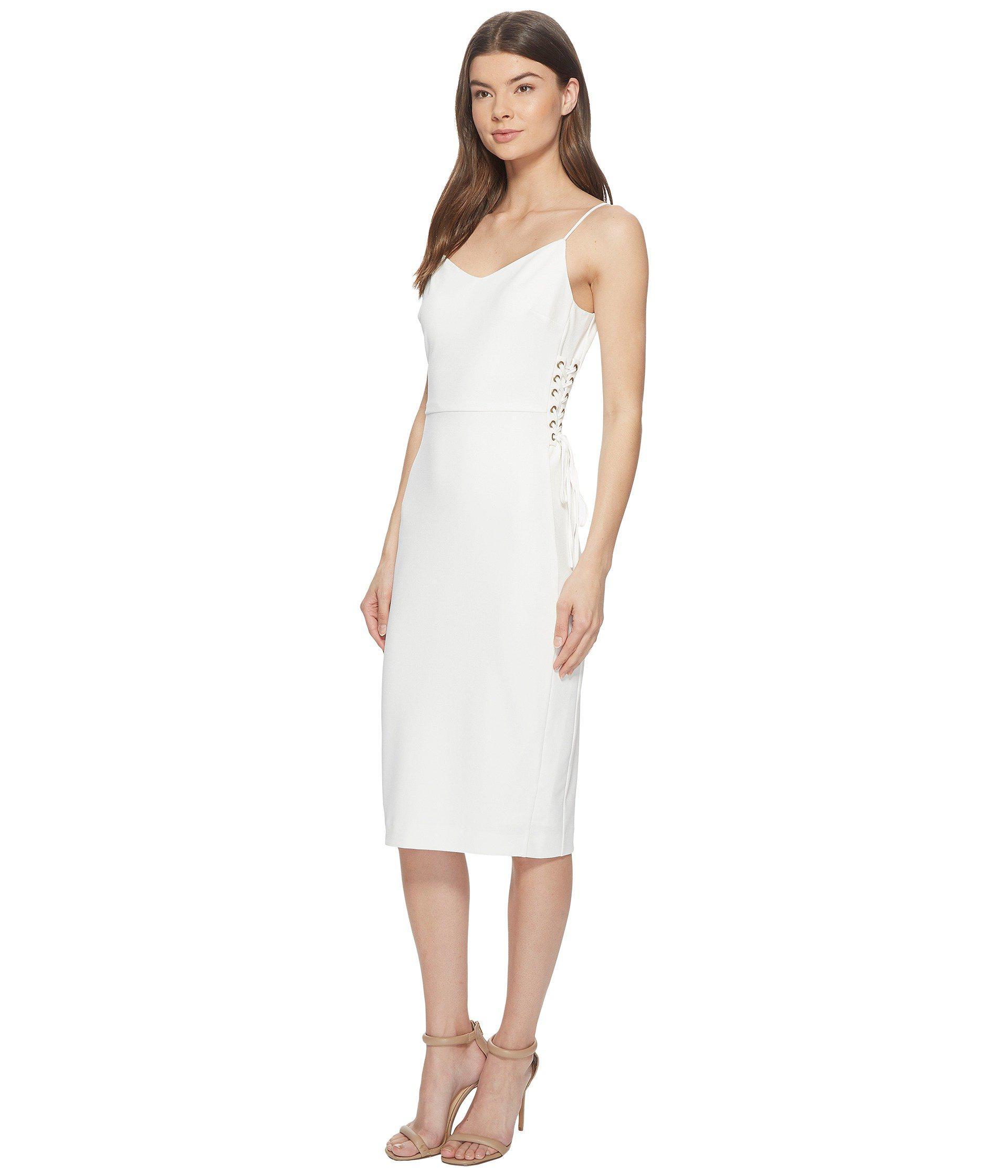 4e141db6d4a5 Lyst - 1.STATE Spaghetti Strap Slip Dress W  Lace-up in White - Save 35%