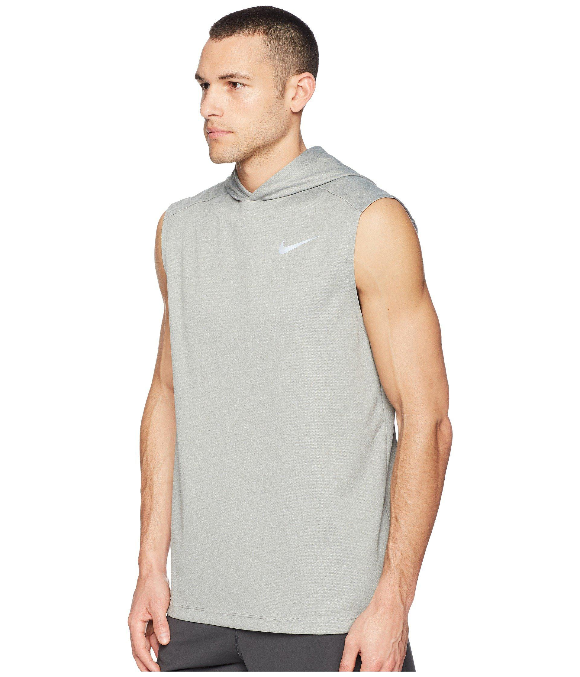d6877d963ccc1 Lyst - Nike Dry Top Sleeveless Running Hoodie in Gray for Men