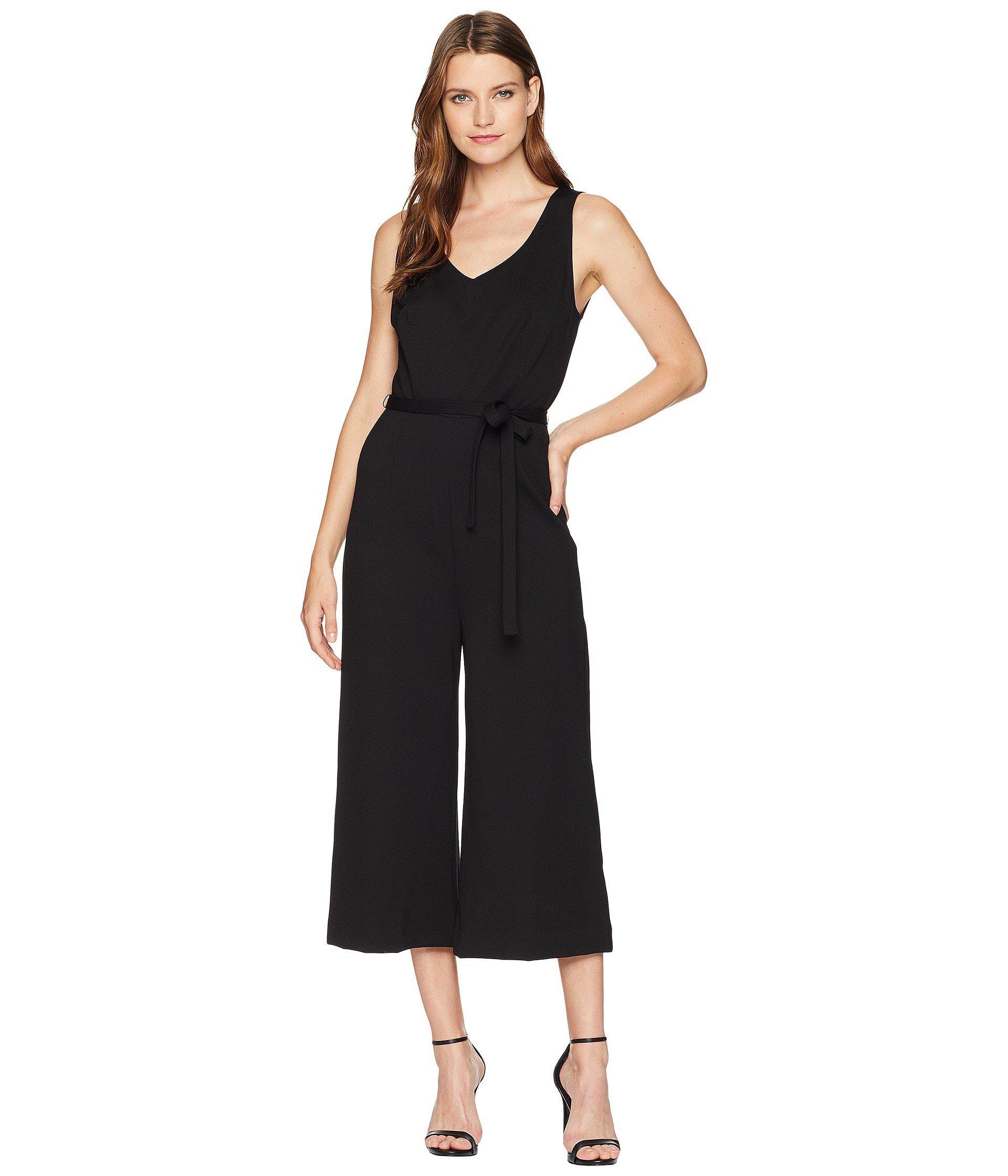 6ed089ee297 Lyst - Three Dots Ponte Sleeveless Jumpsuit in Black