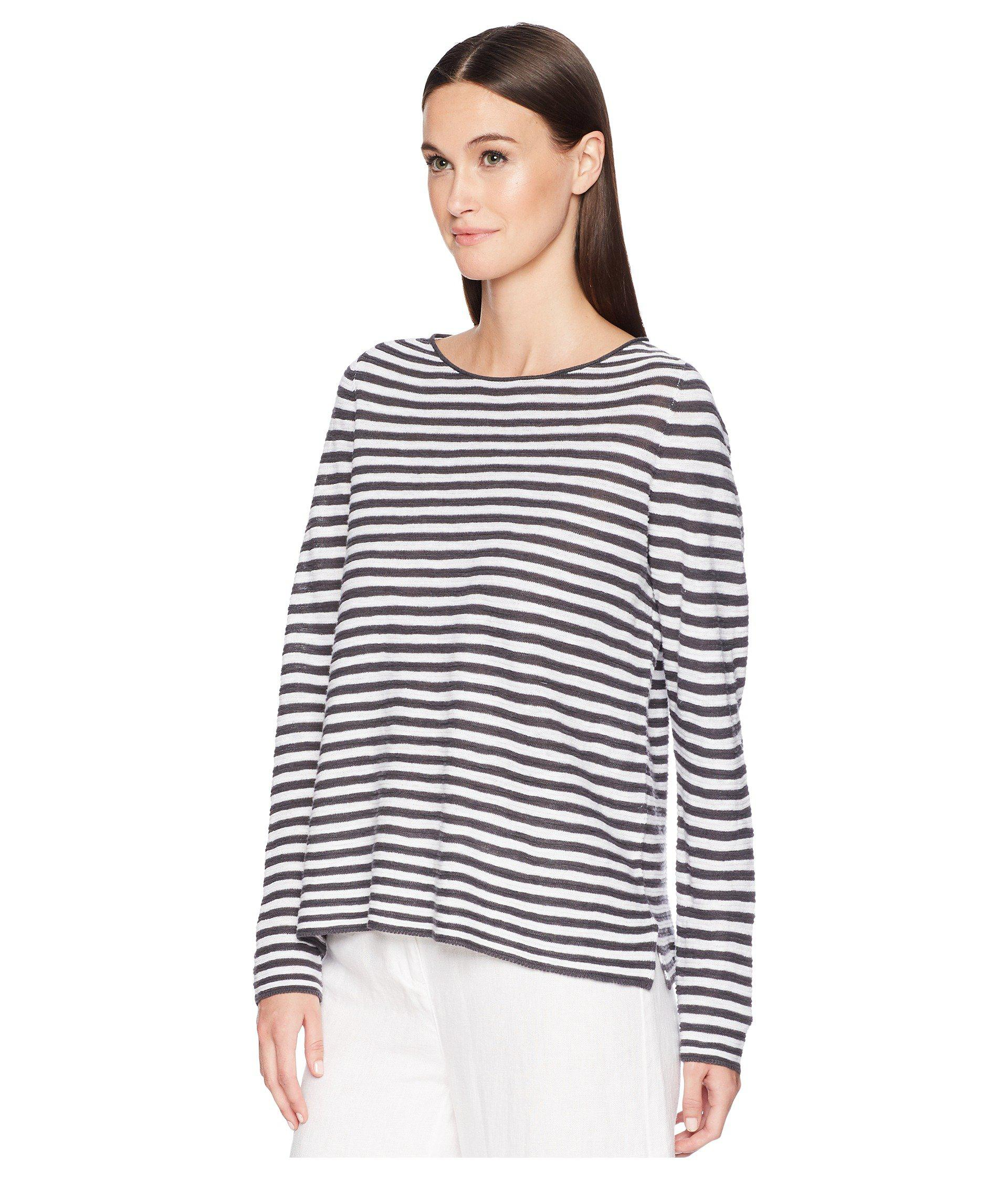 ab33f228ed0 Eileen Fisher Organic Linen Cotton Stripe Top - Save 23% - Lyst