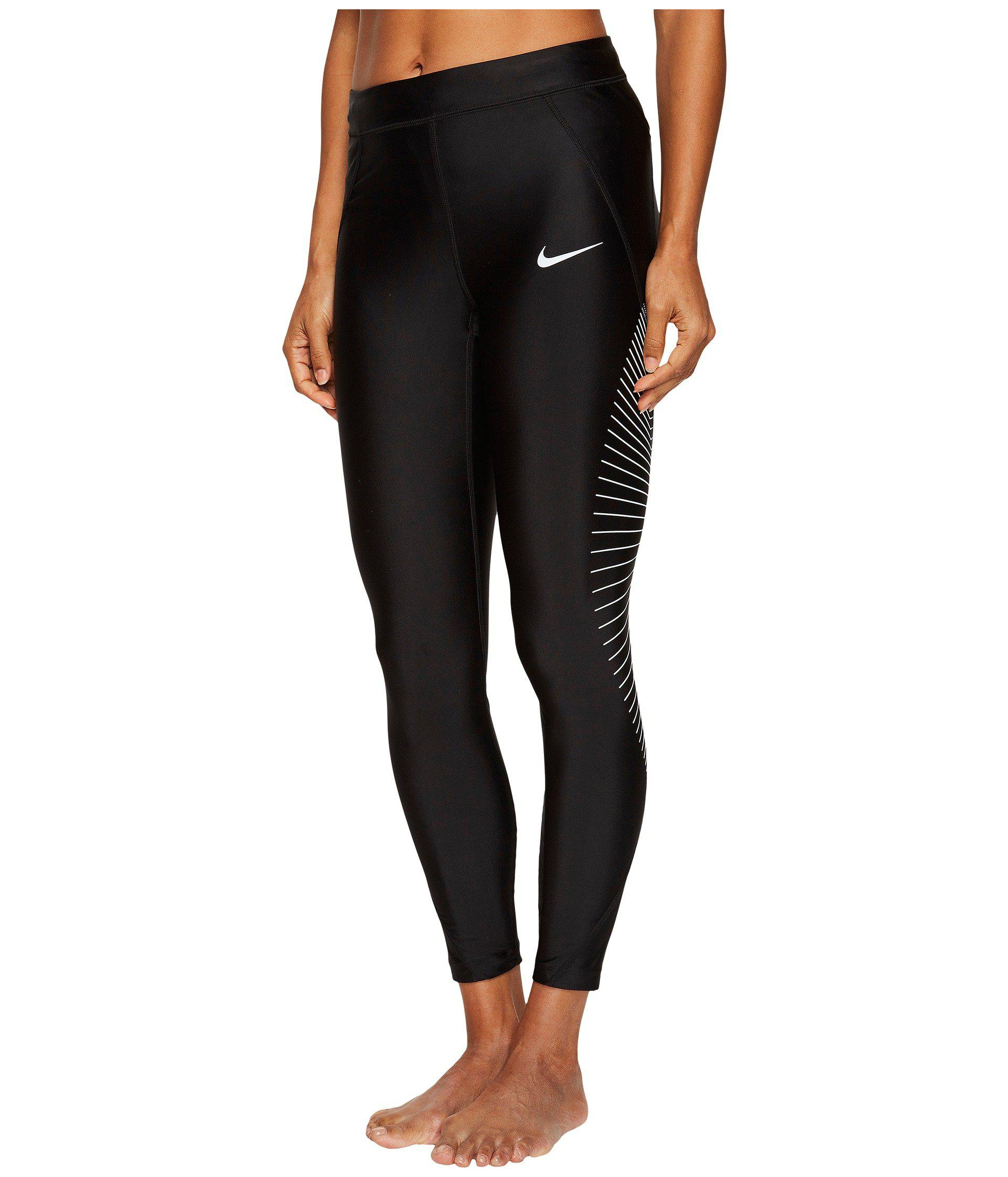 d7b5b1ba90902 Lyst - Nike Power Speed 7 8 Graphic Running Tight in Black
