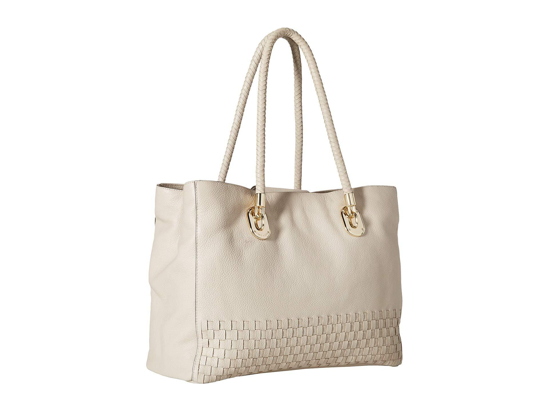 4d51441b32f Lyst - Cole Haan Benson Novelty Weave Tote in Natural