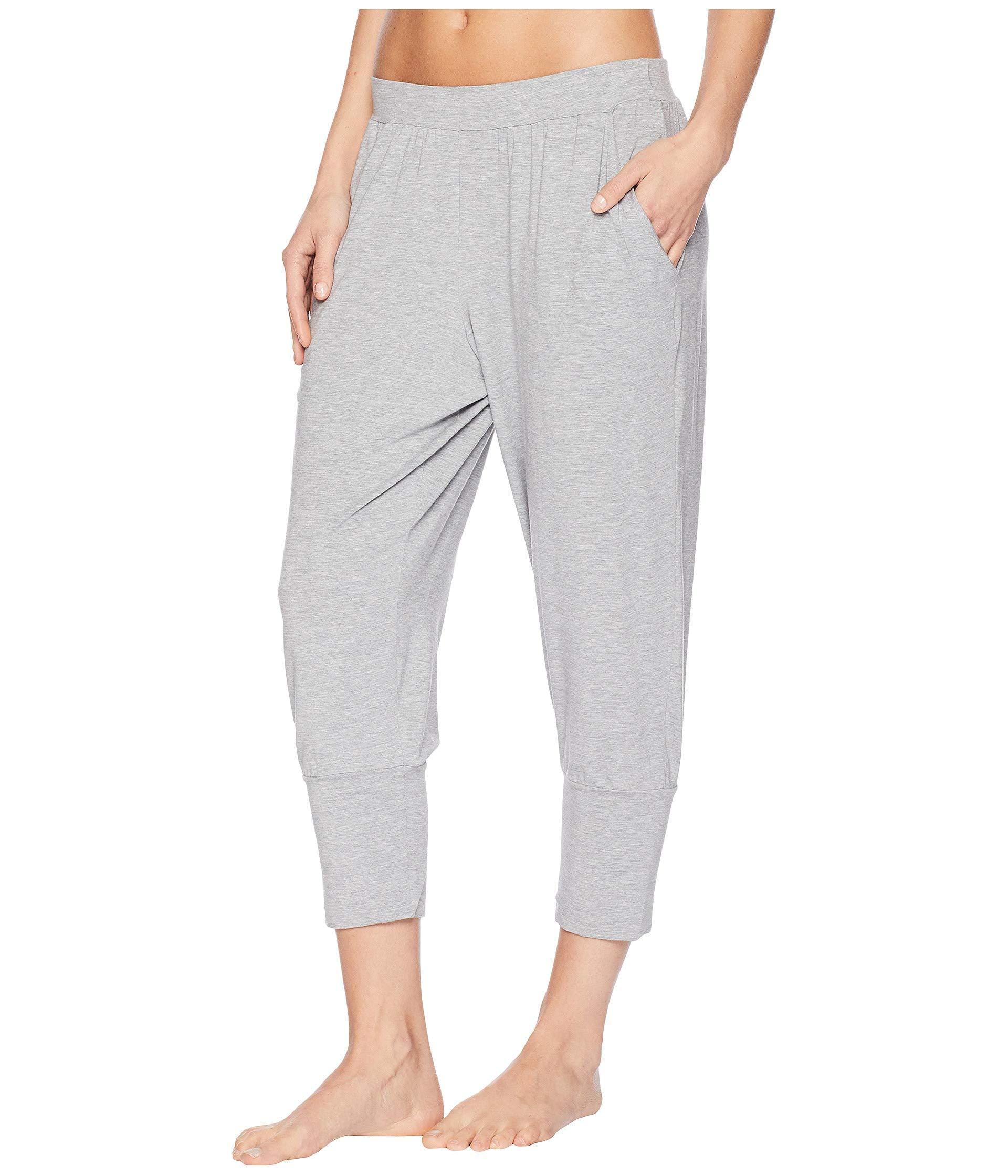 00a2604bc762b Lyst - Hanro Yoga Crop Pants in Gray