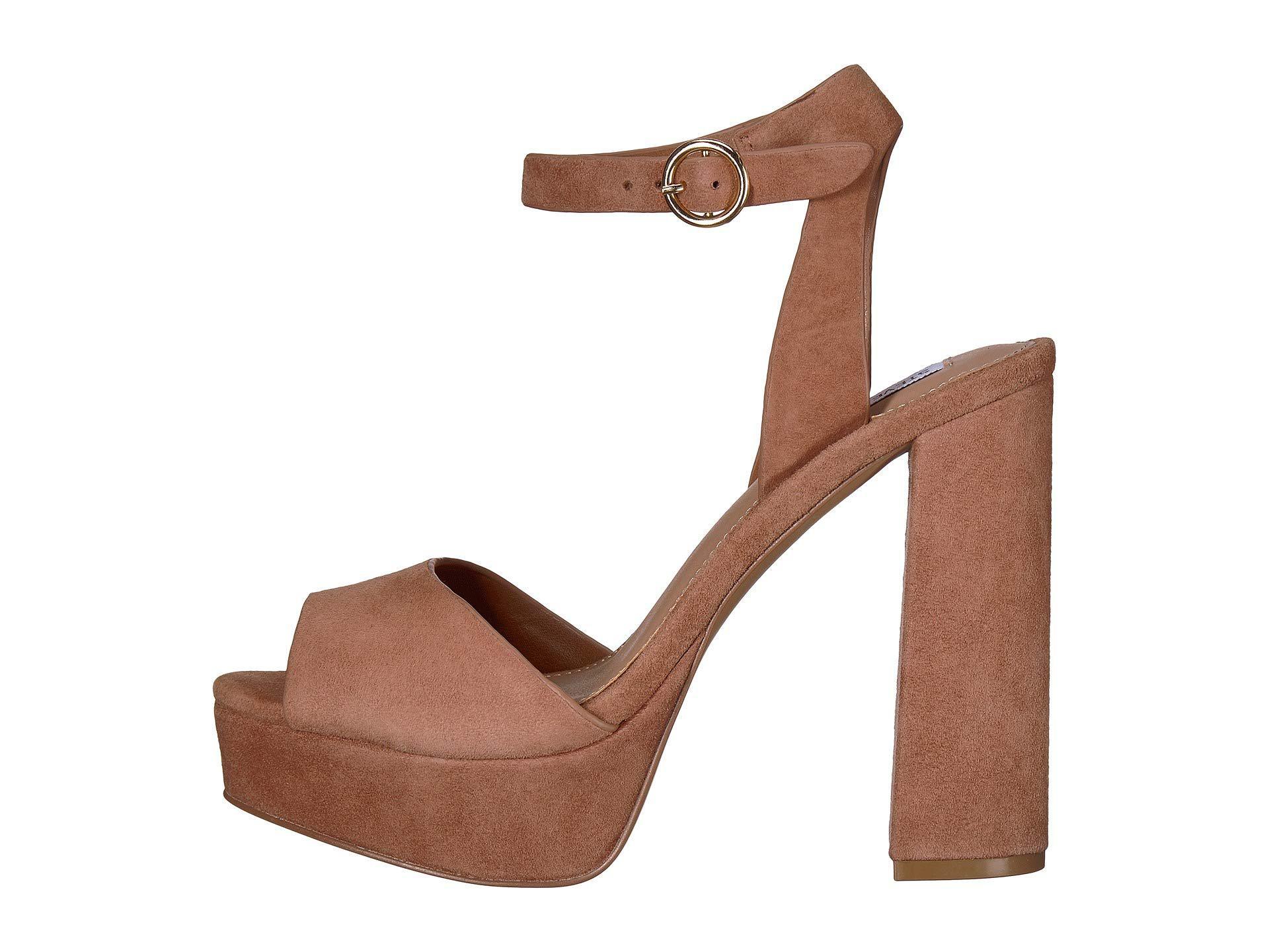 4c73357df10e Lyst - Steve Madden Madeline Platform Sandal in Brown - Save 20%