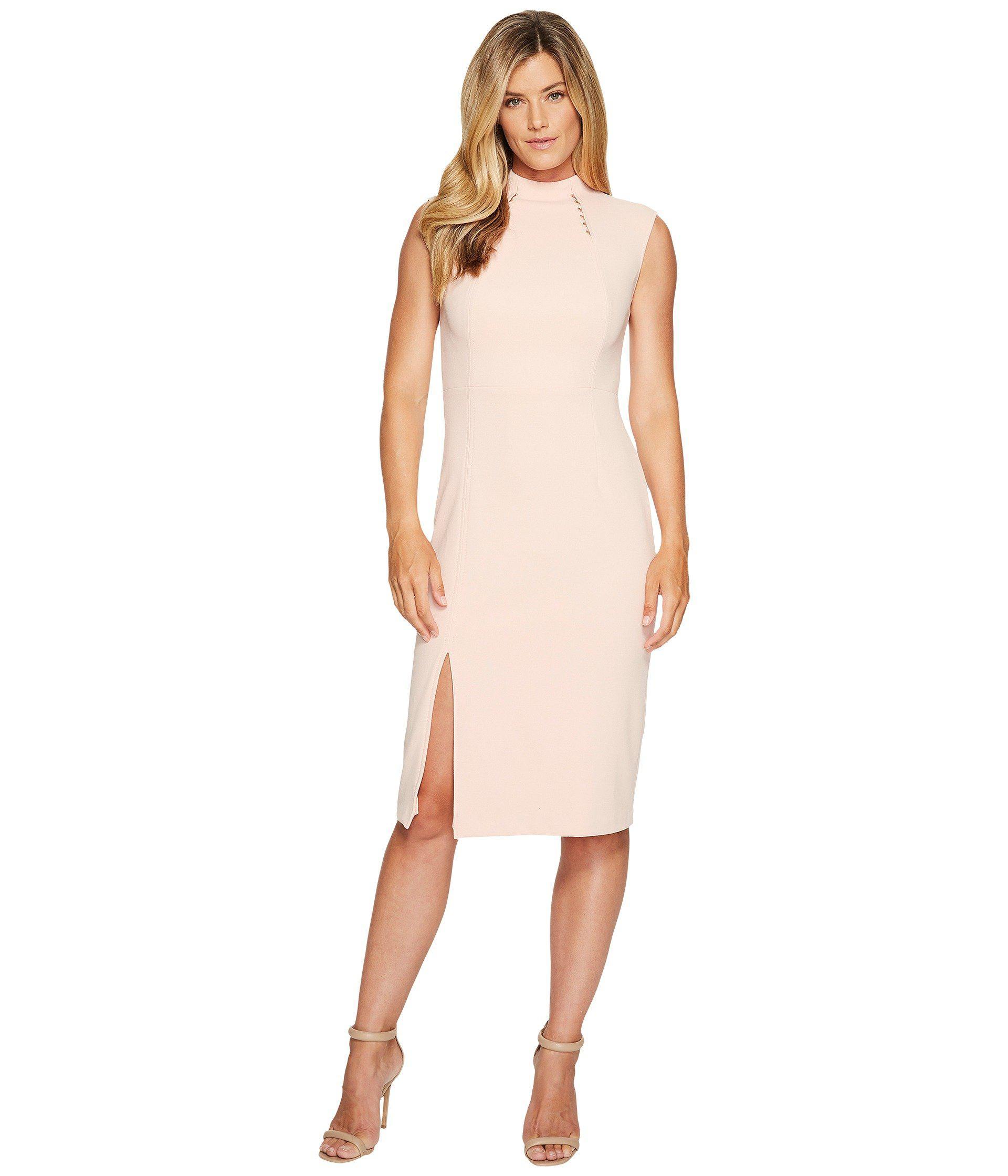 2edd6c3a Lyst - Ivanka Trump Sleeveless Scuba Crepe Midi Dress With Hardware