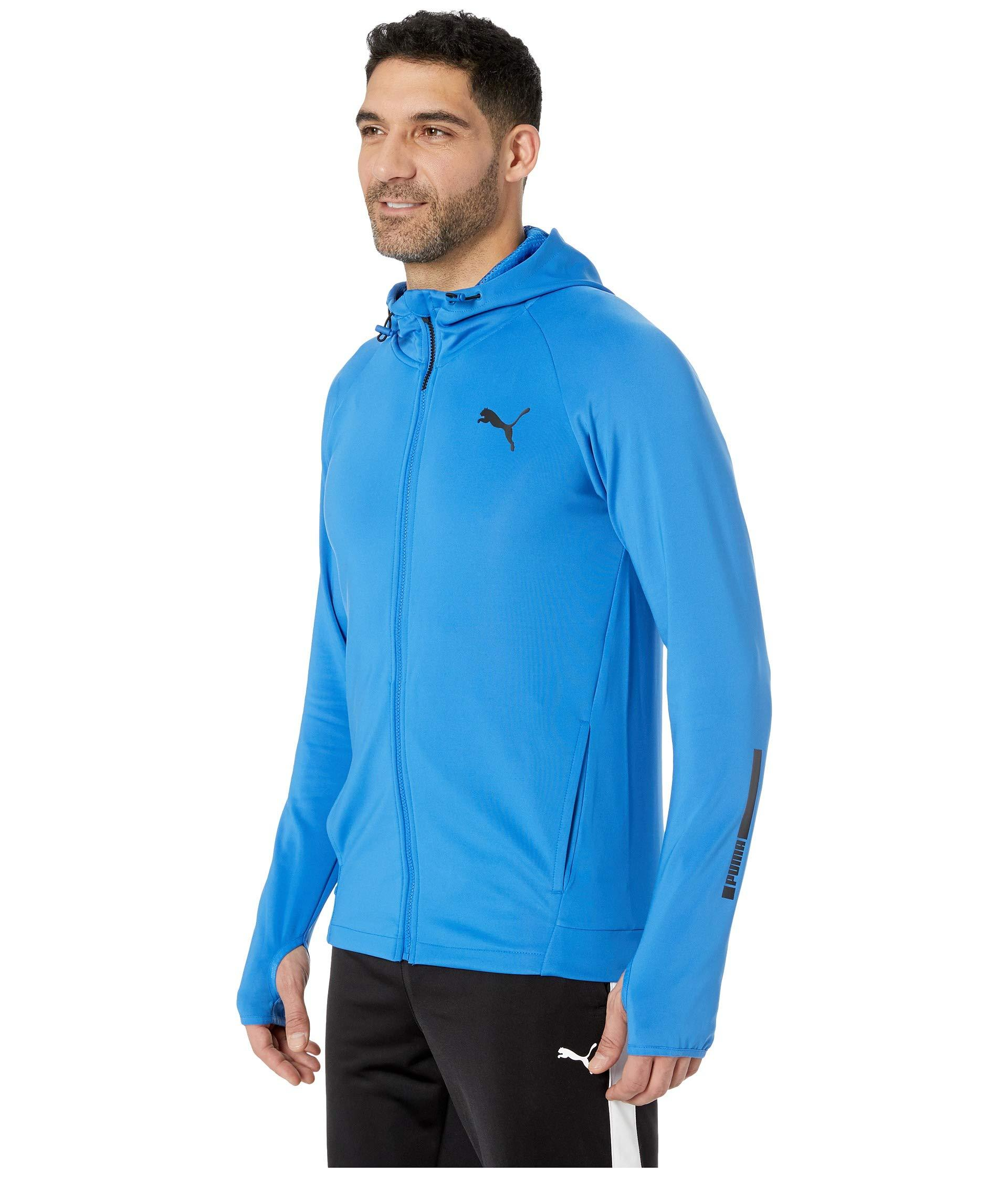 53617f60abca Lyst - PUMA Tec Sports Full Zip Hoody in Blue for Men - Save 38%