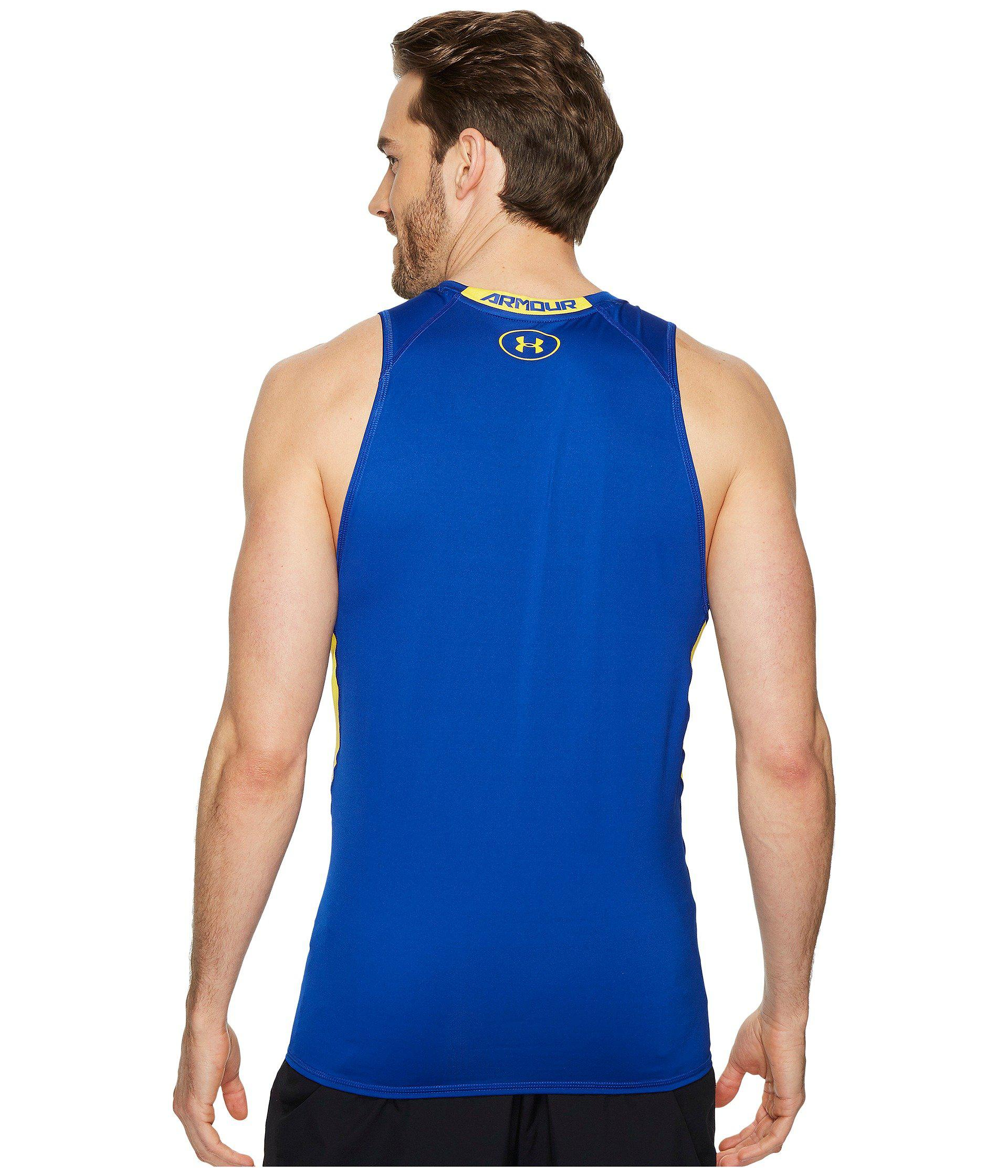1c32acc95 Under Armour Ua Heatgear® Armour Printed Compression Tank Top in ...