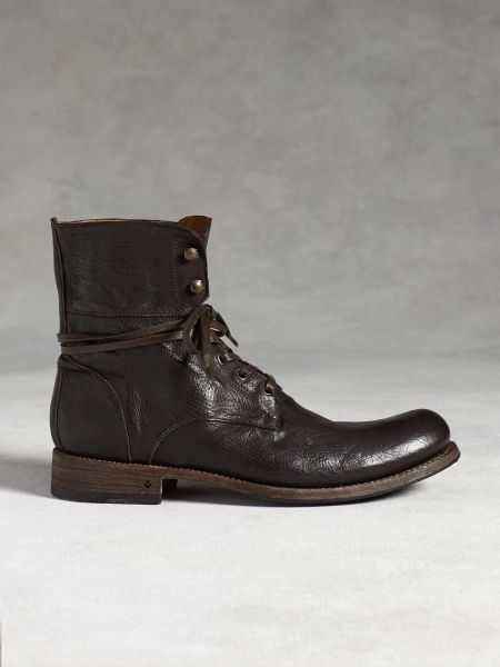 varvatos six o six combat boot in brown for
