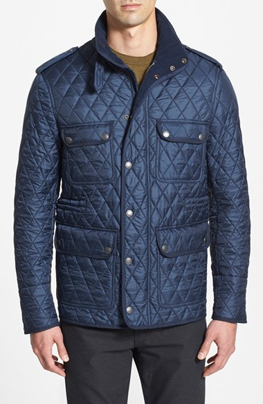 Lyst Burberry Brit Russell Quilted Field Jacket In Blue For Men