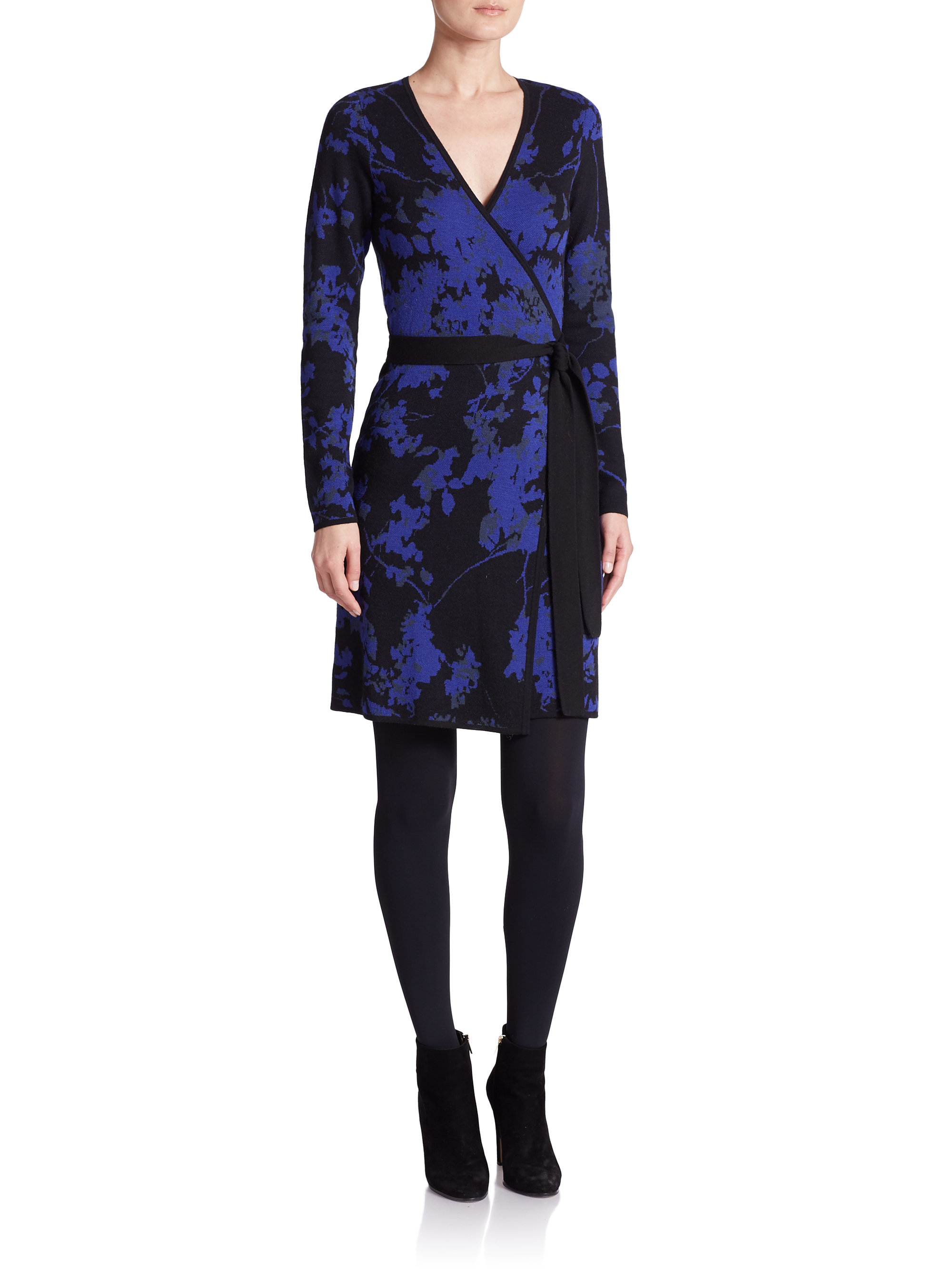 Lyst diane von furstenberg leandra wool wrap dress for Diane von furstenberg clothes
