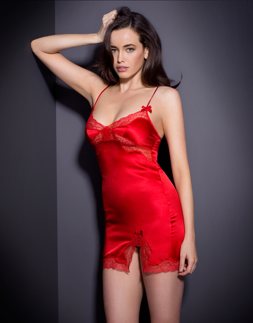 Agent Provocateur Luna Short Slip Red in Red - Lyst 286ce0ed3