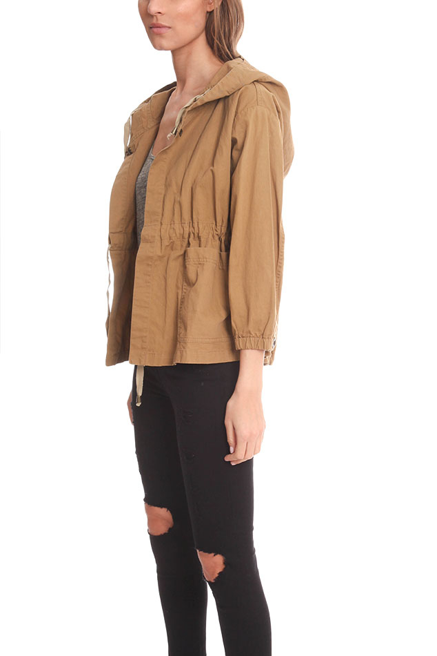 Giada Forte Military Cargo Jacket In Brown Lyst