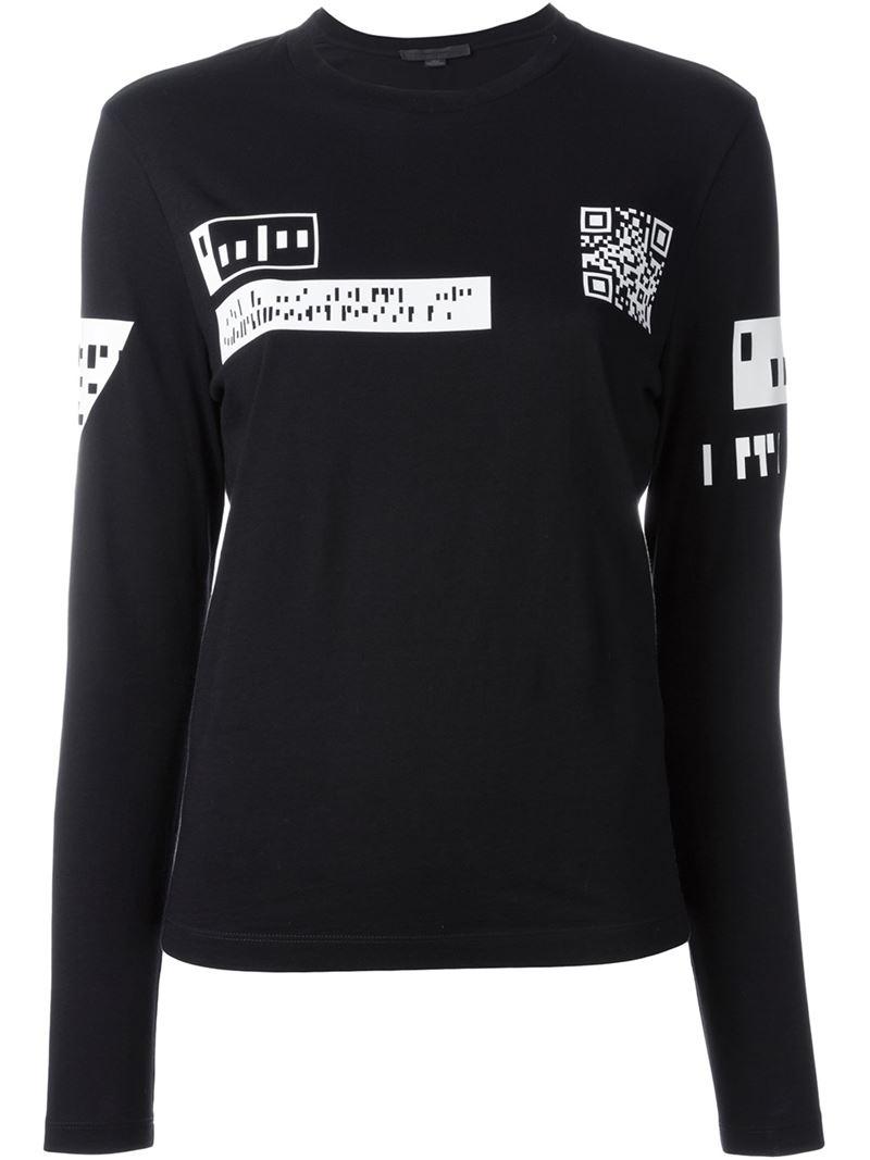 Lyst - Alexander Wang Qr Code Print T-shirt in Black