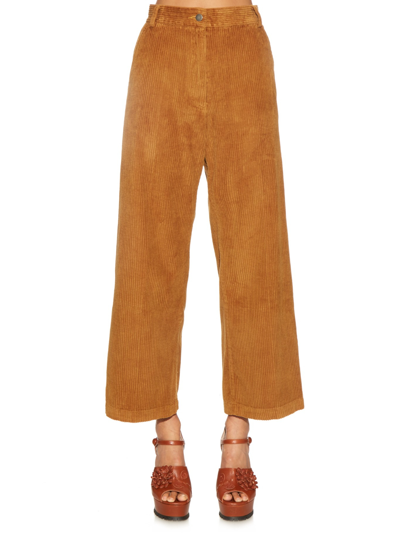 Rachel comey Bishop Wide Wale Corduroy Trousers in Brown | Lyst