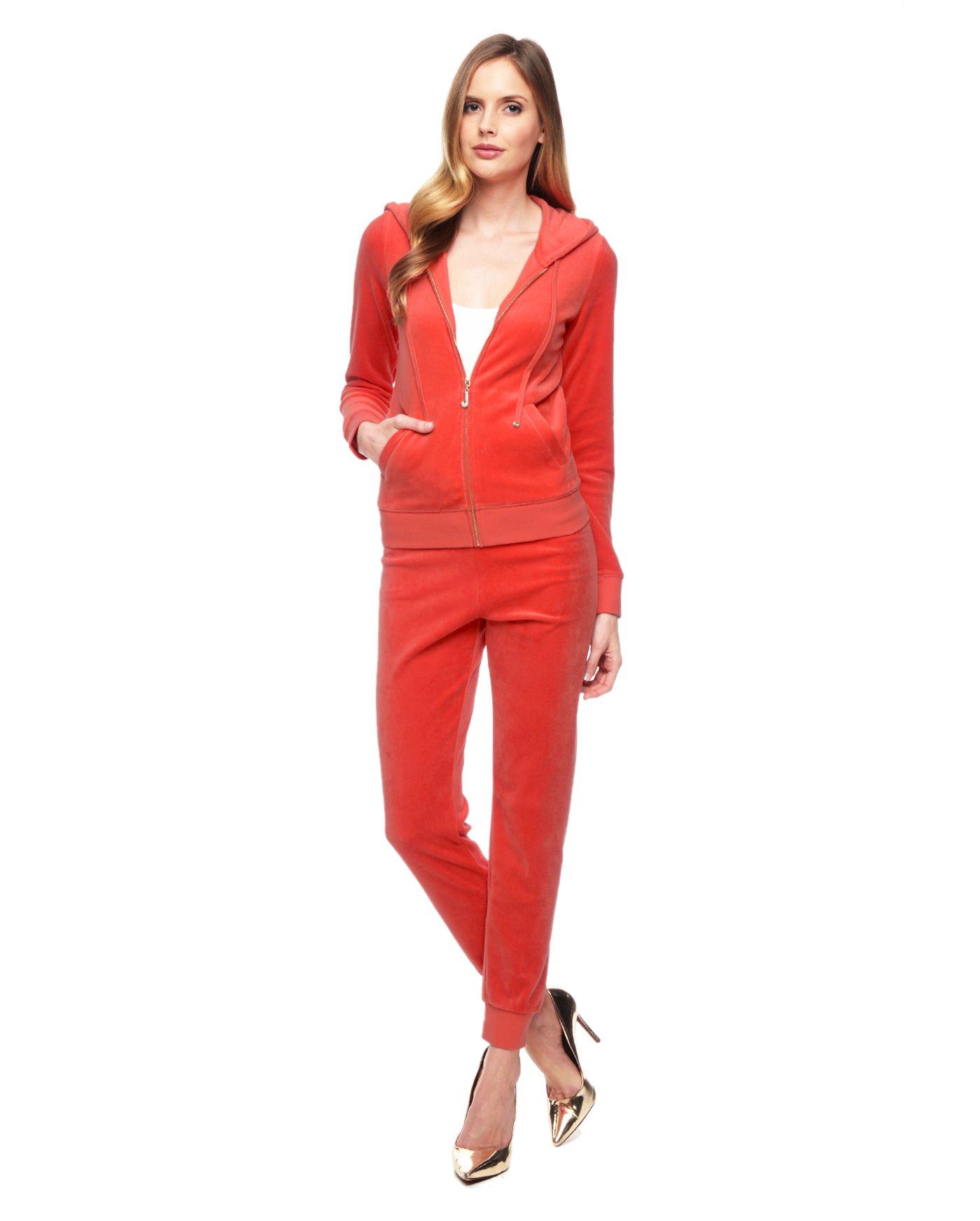 Juicy couture J Bling Original Velour Jacket in Orange | Lyst