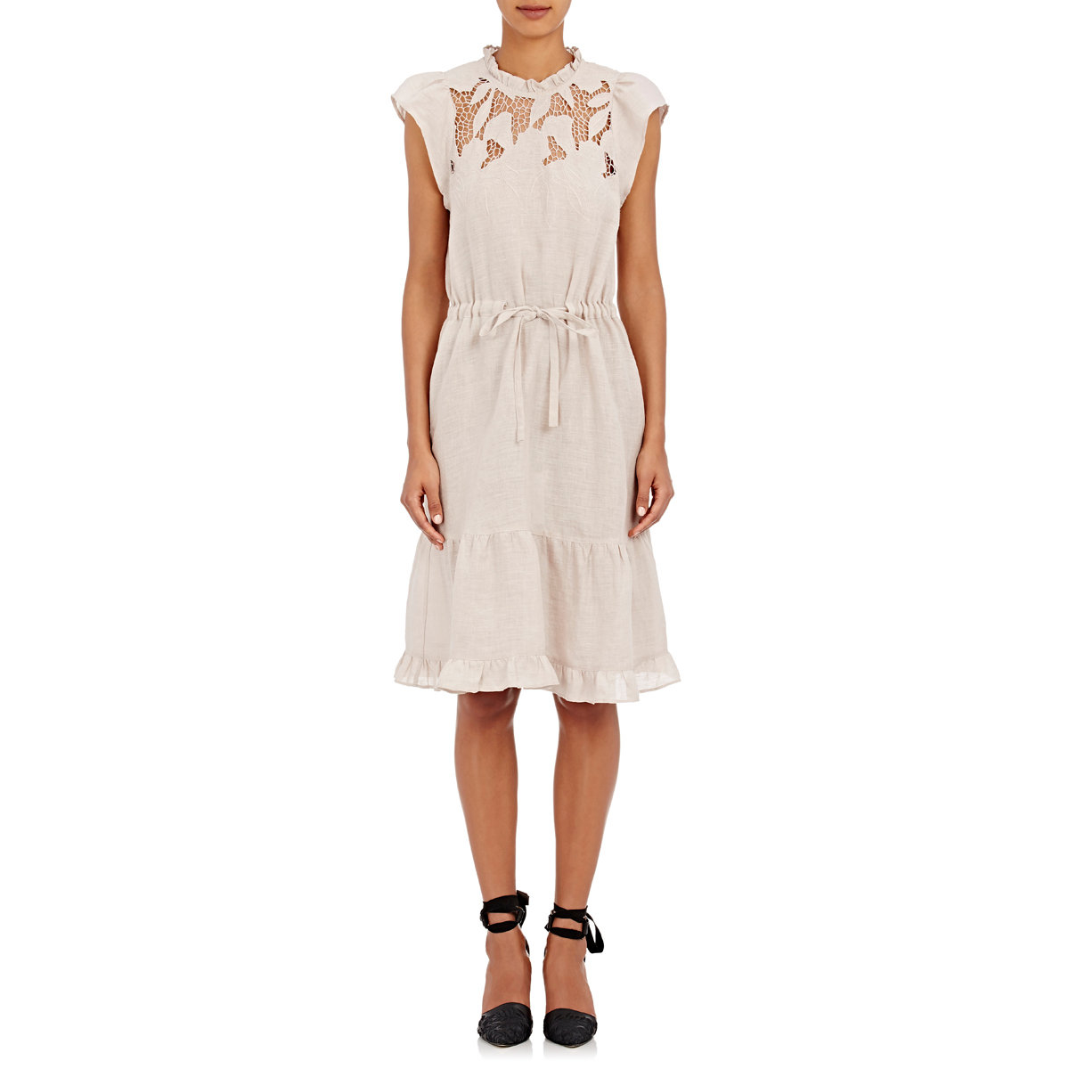 7136469a13 Lyst - Ulla Johnson Amelie Lace-inset Dress in Natural