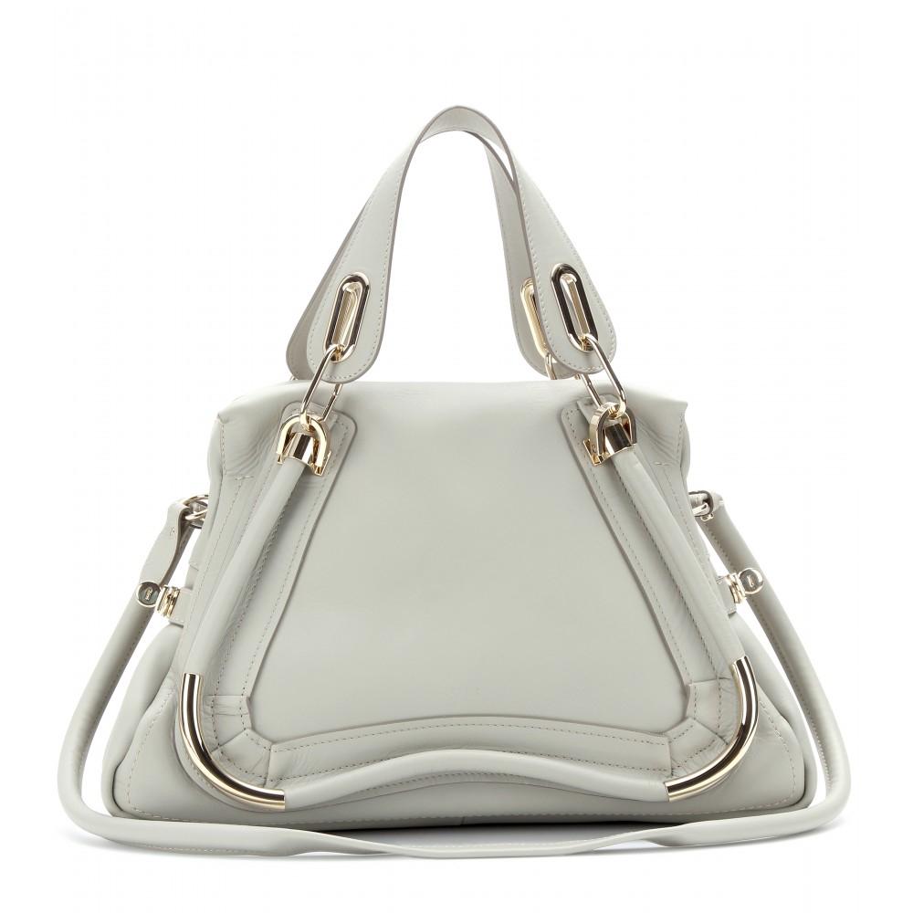 chloe marcie bag replica - Chlo�� Paraty Medium Leather Shoulder Bag in Gray (marshmellow grey ...