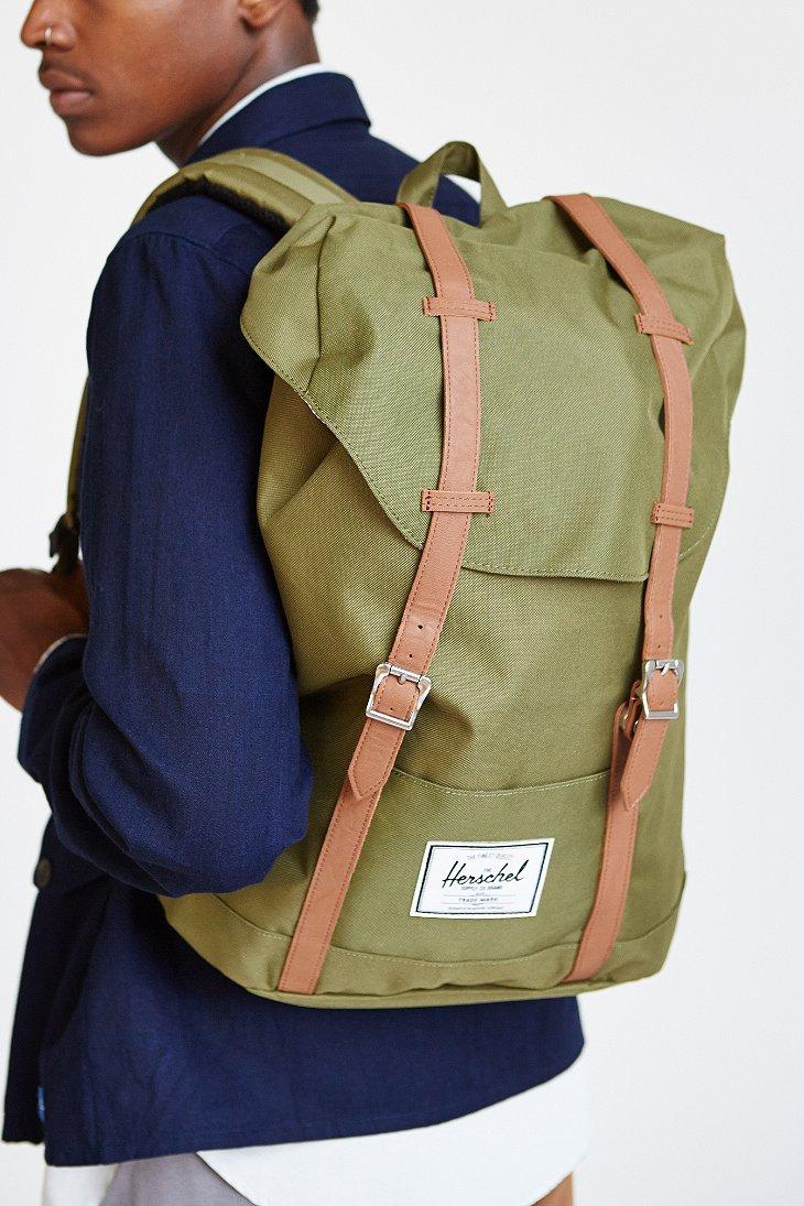herschel supply co retreat backpack in green for men lyst. Black Bedroom Furniture Sets. Home Design Ideas