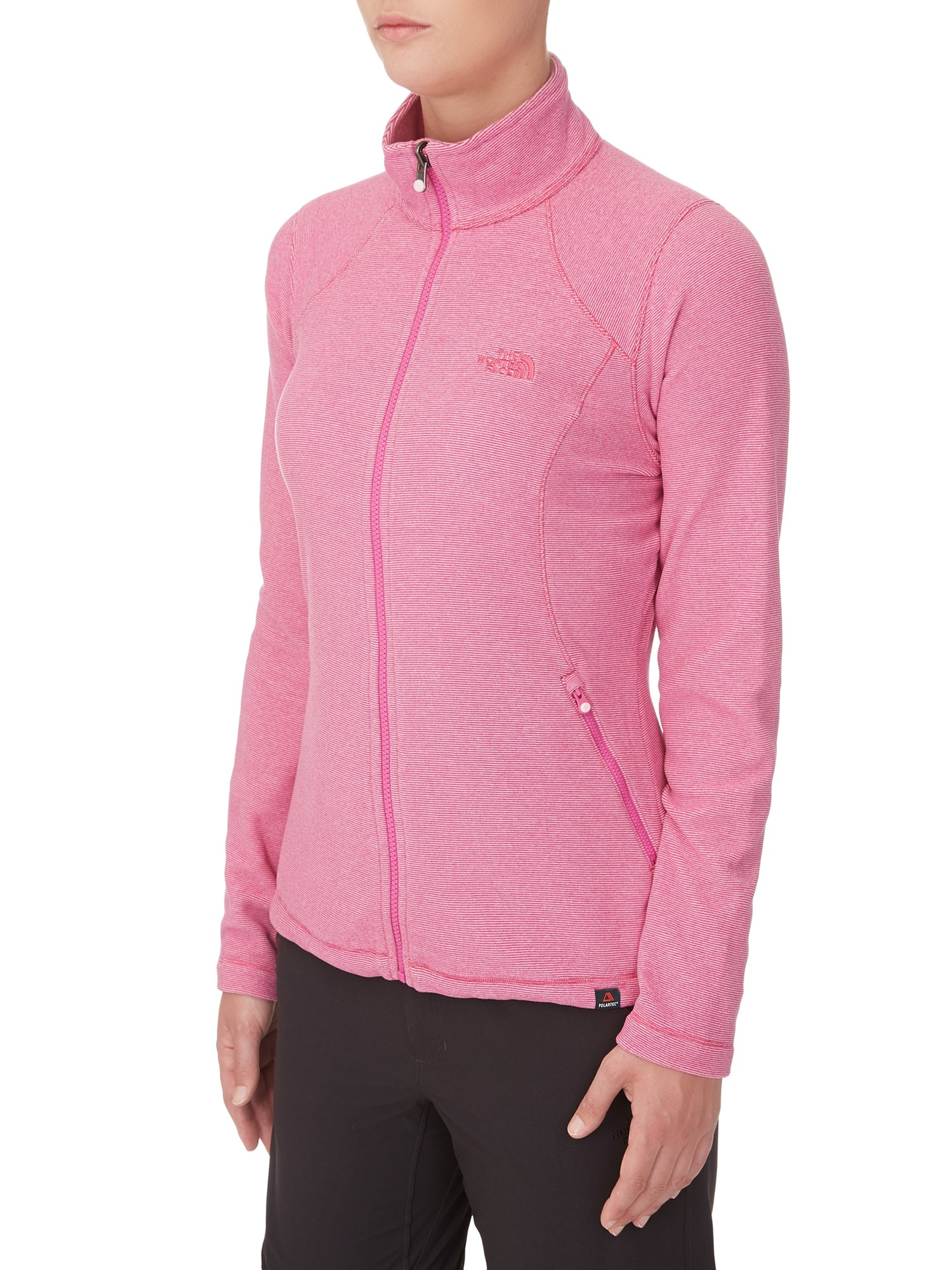 62375b58bc8 The North Face 100 Glacier Full Zip Fleece in Pink - Lyst