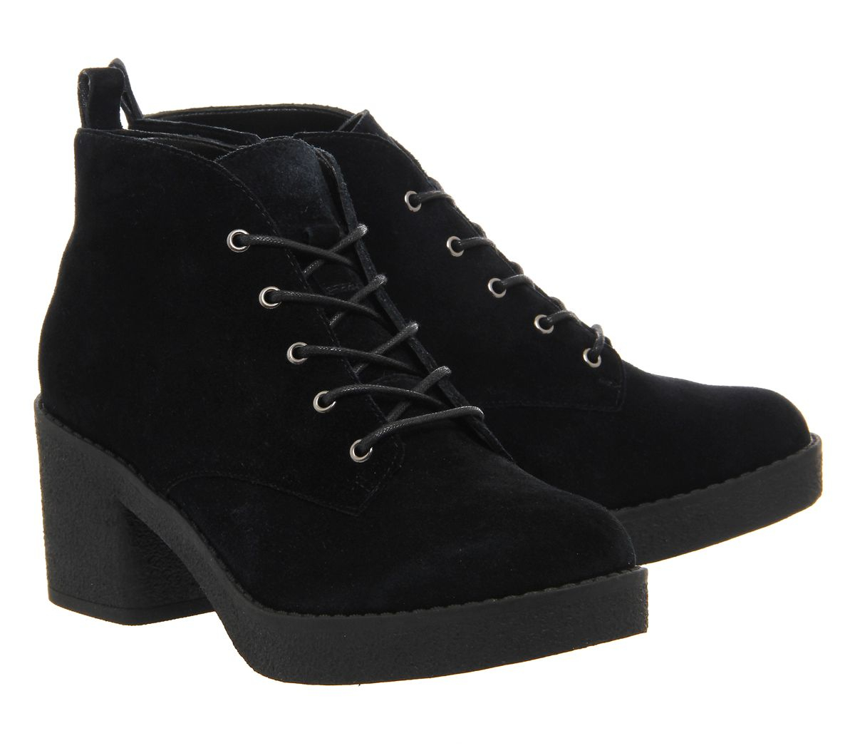 Office Frankie Lace Up Casual Ankle Boots In Black Lyst