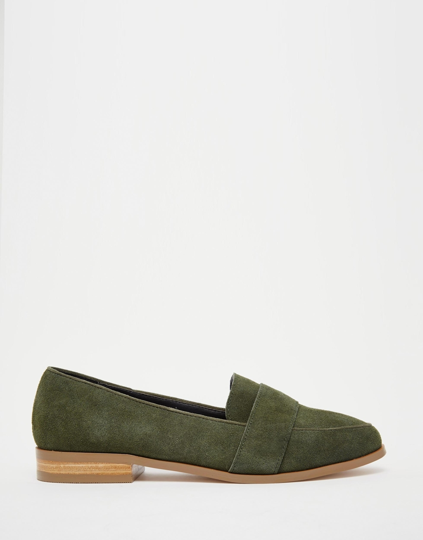 aa691d7533c Lyst - Asos Manor Suede Loafers in Green